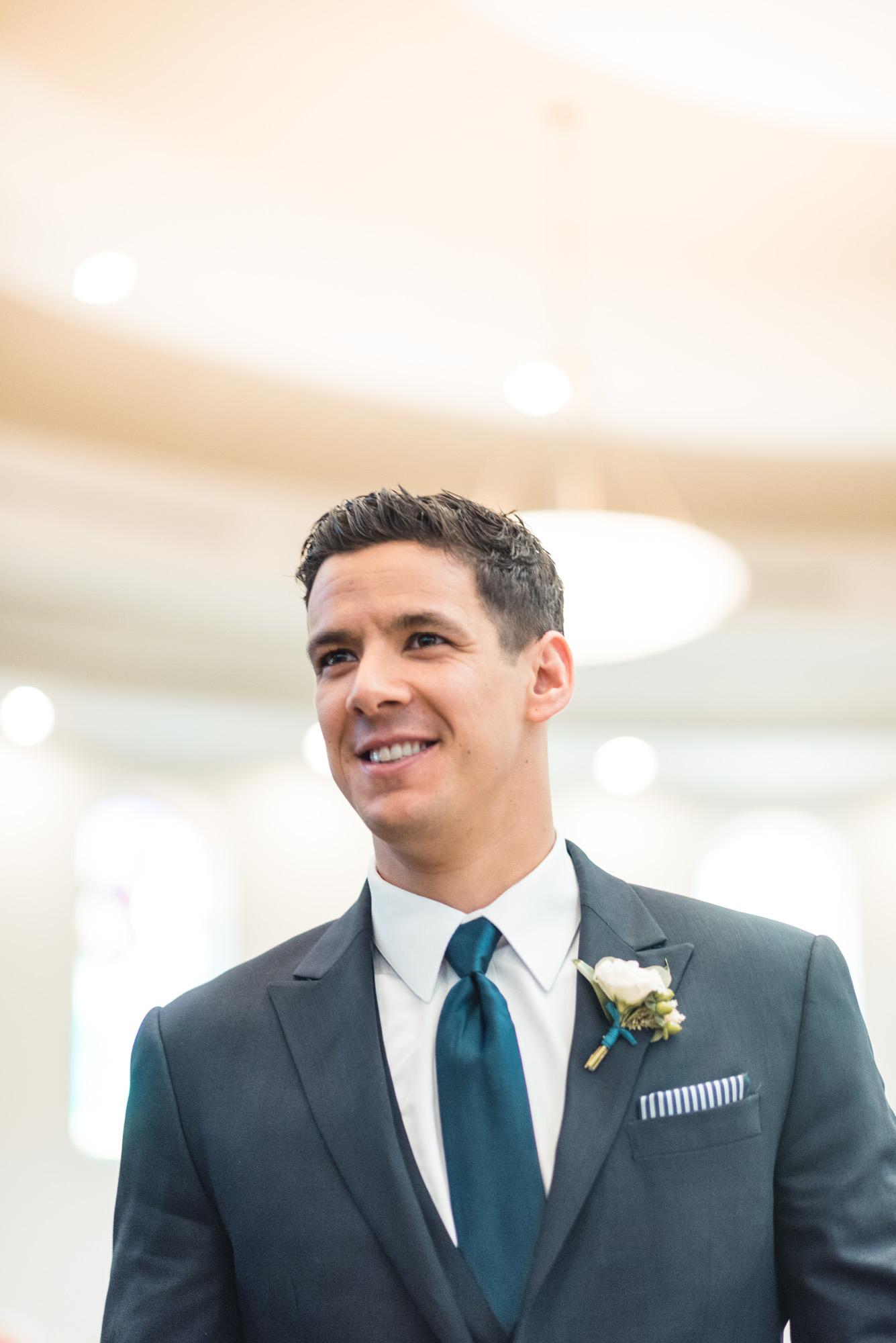 Groomsman at ceremony