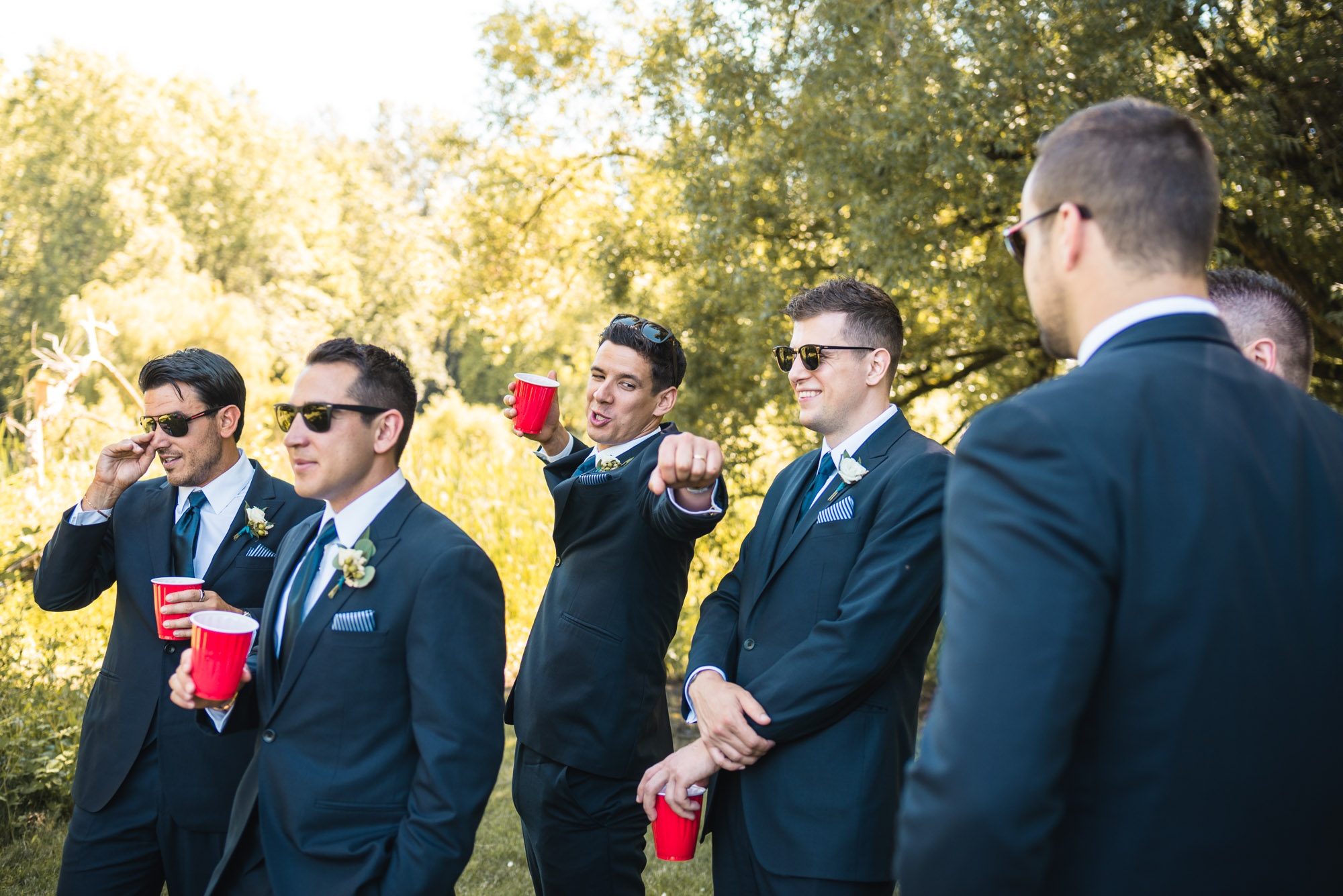 Groomsmen at the park