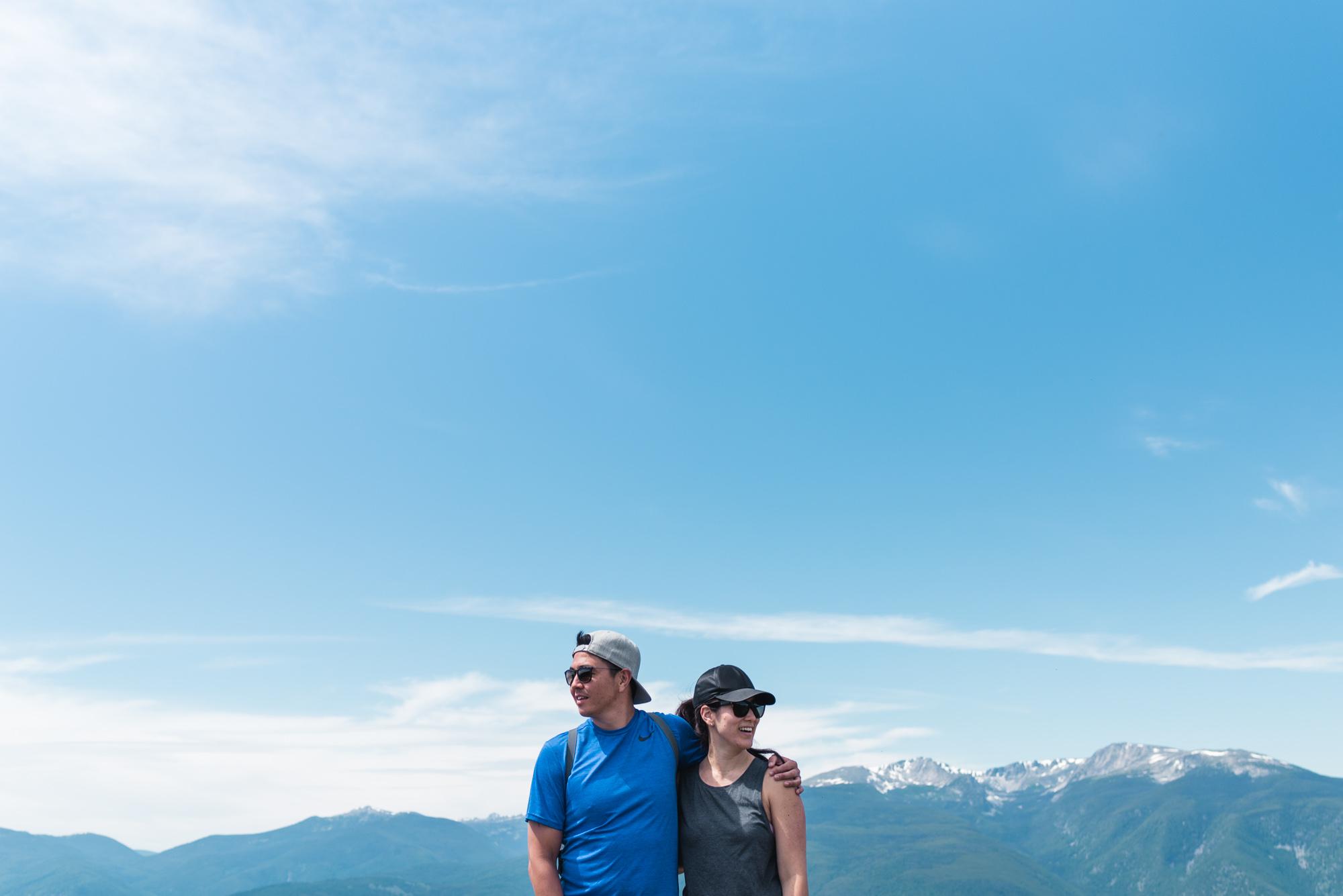 Mount Kobau landscape with couple