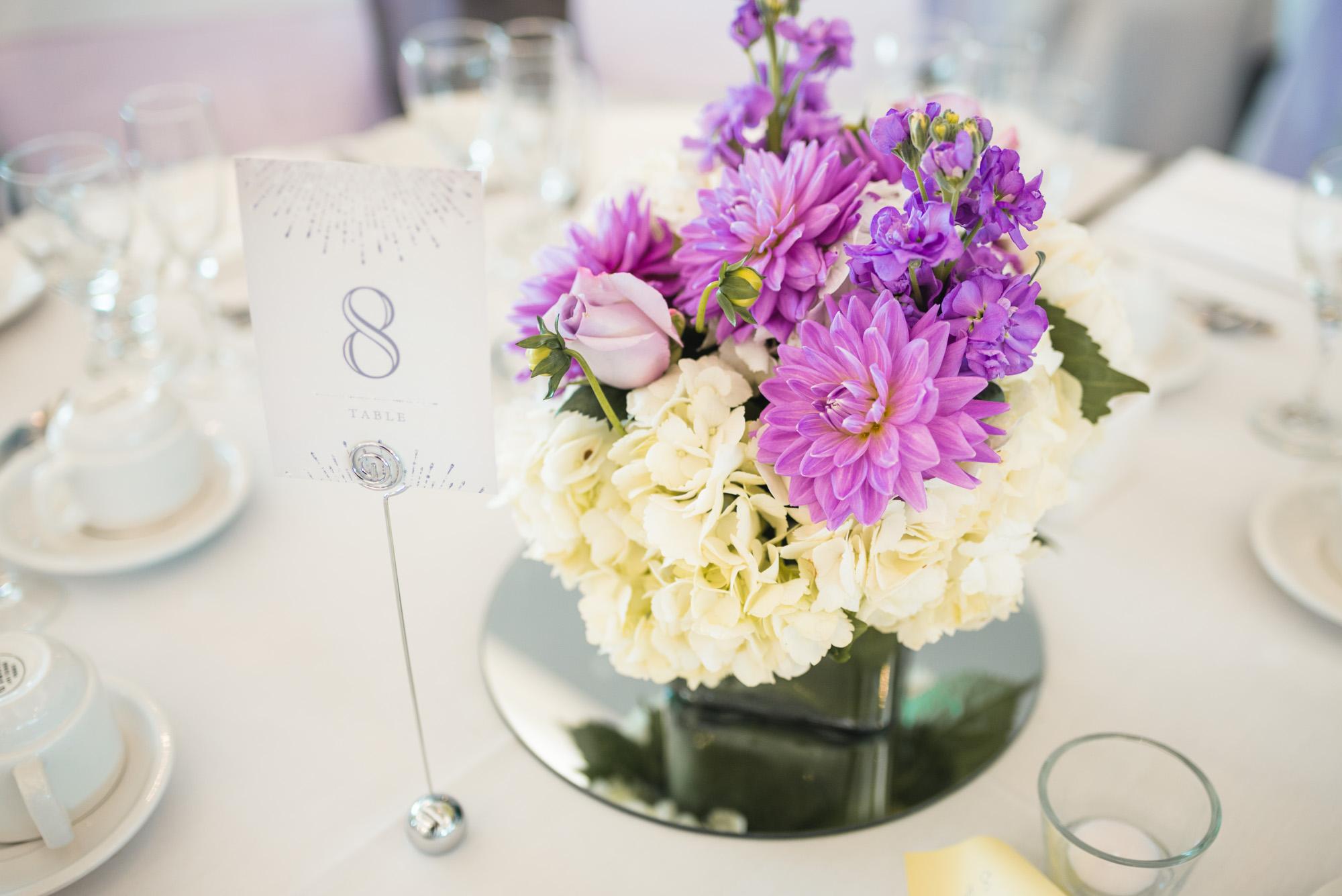 Reception details flowers
