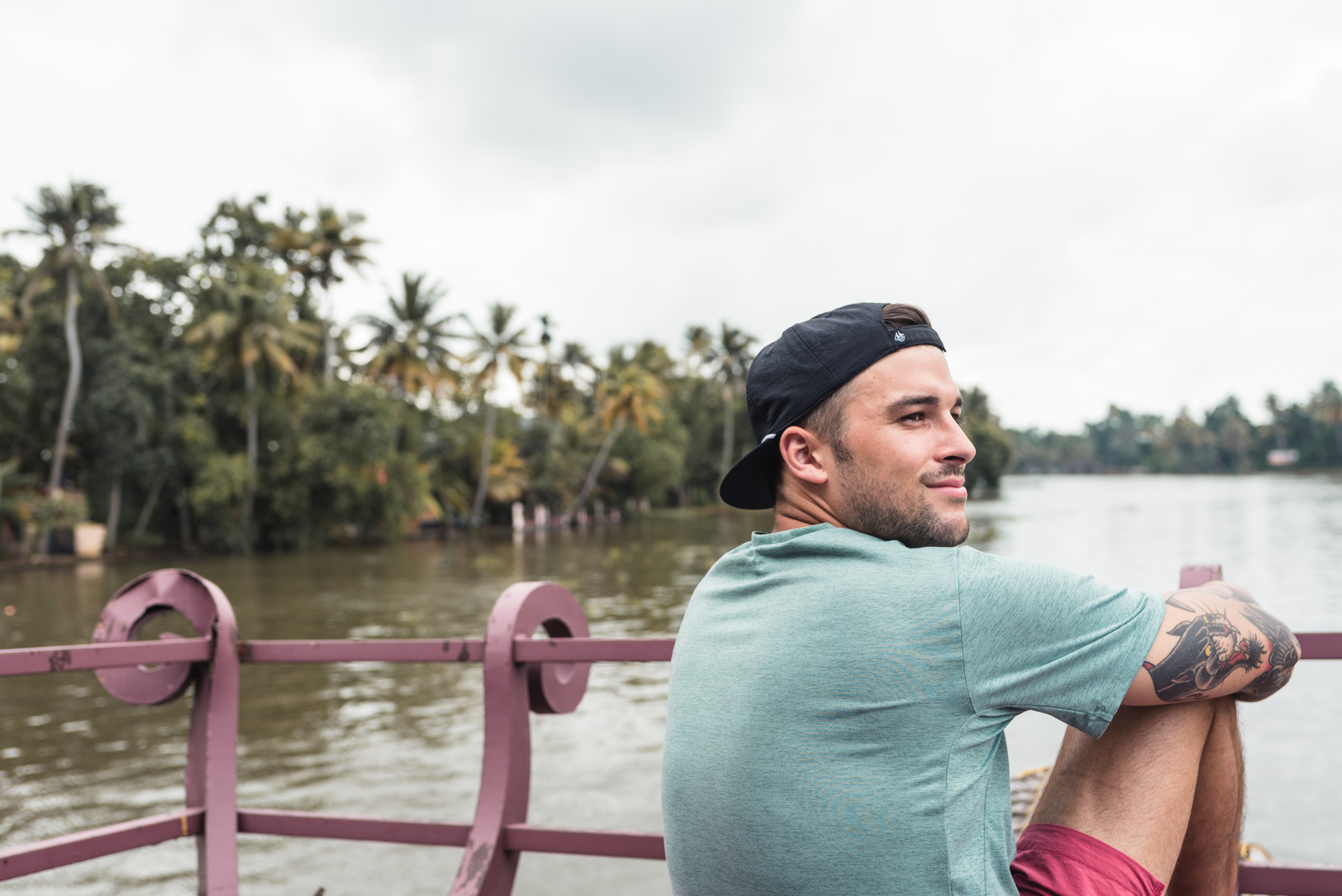 Me on the Alleppey Backwaters houseboat cruise