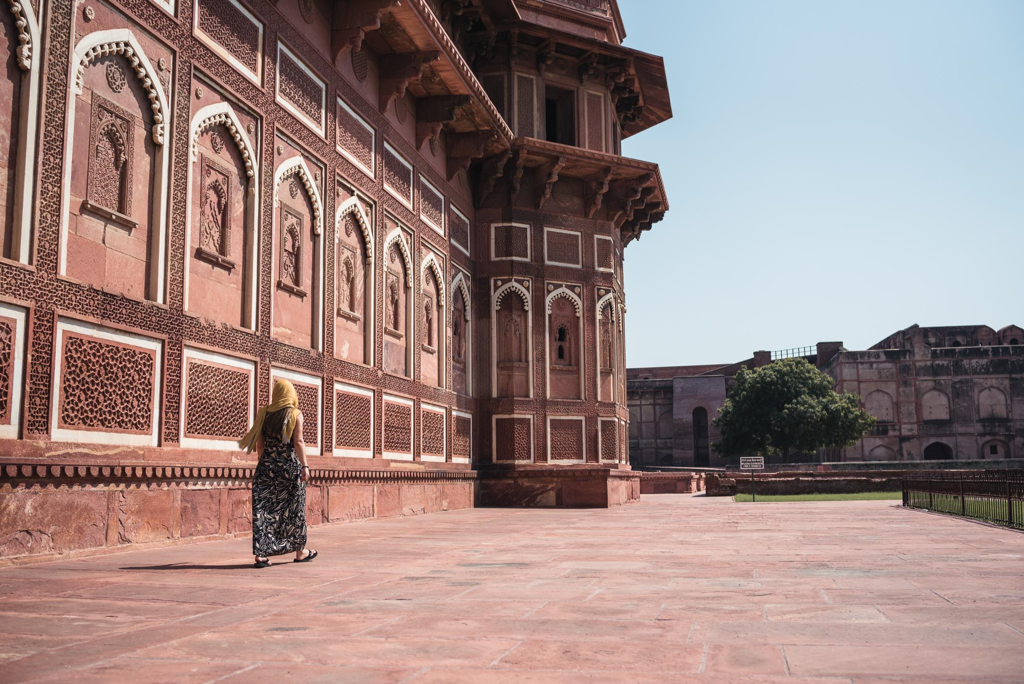 Walking at the Agra Fort