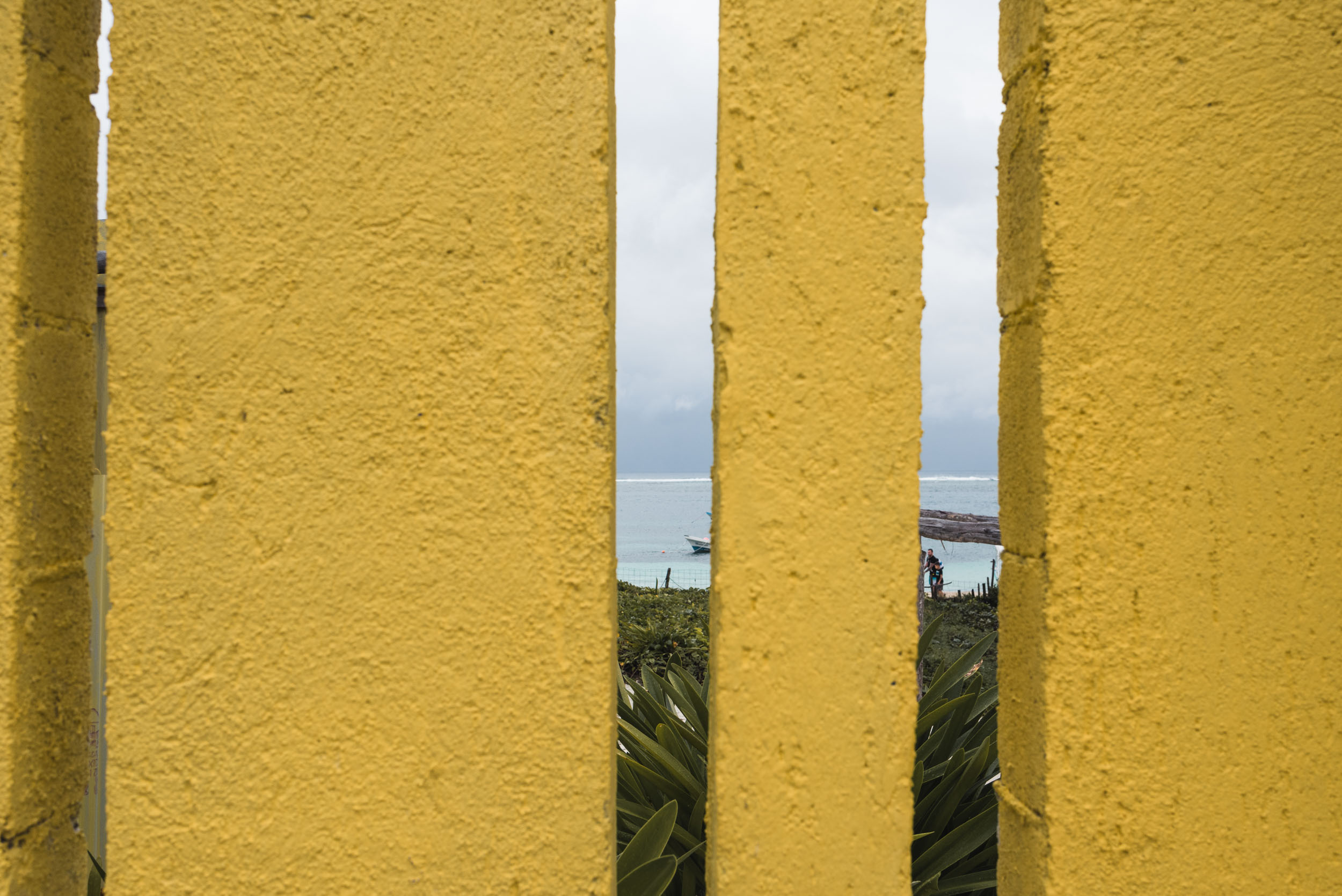 Puerto Morelos yellow fence