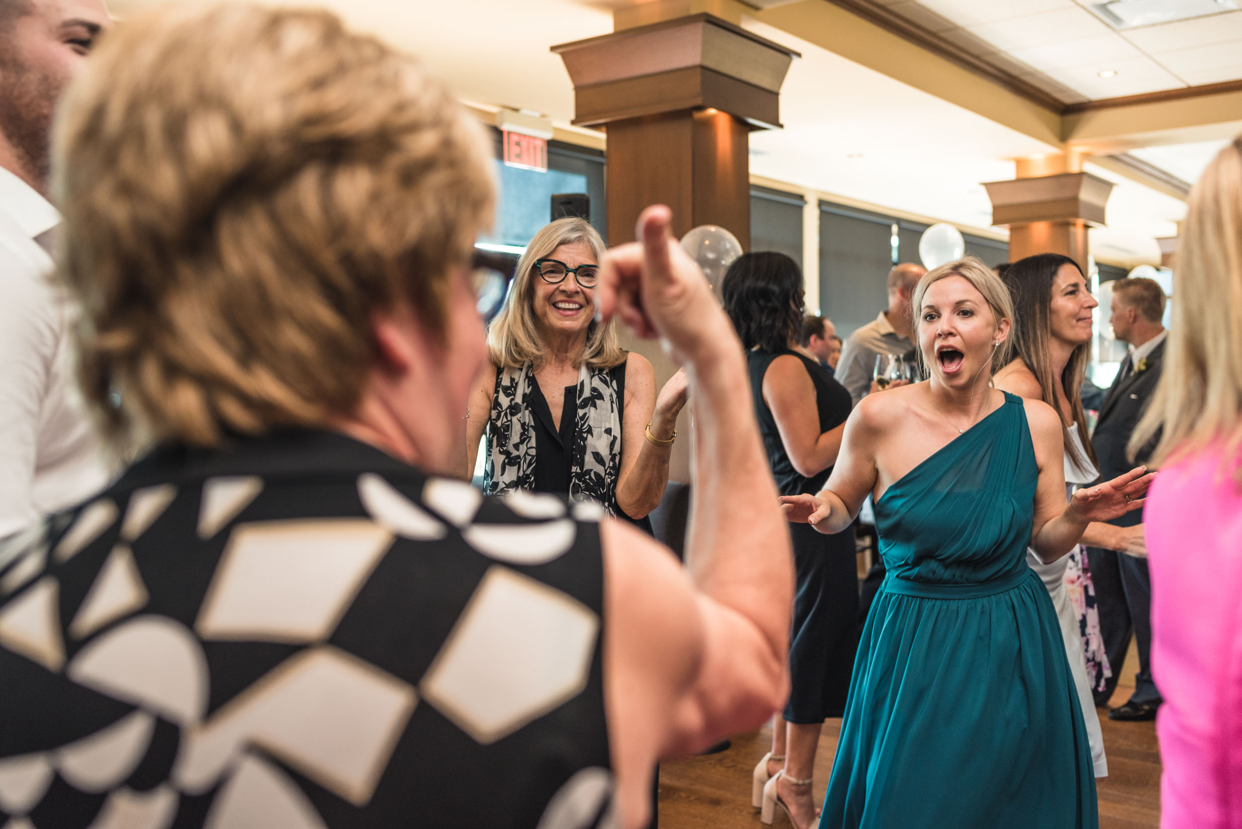 Wedding guest dance party