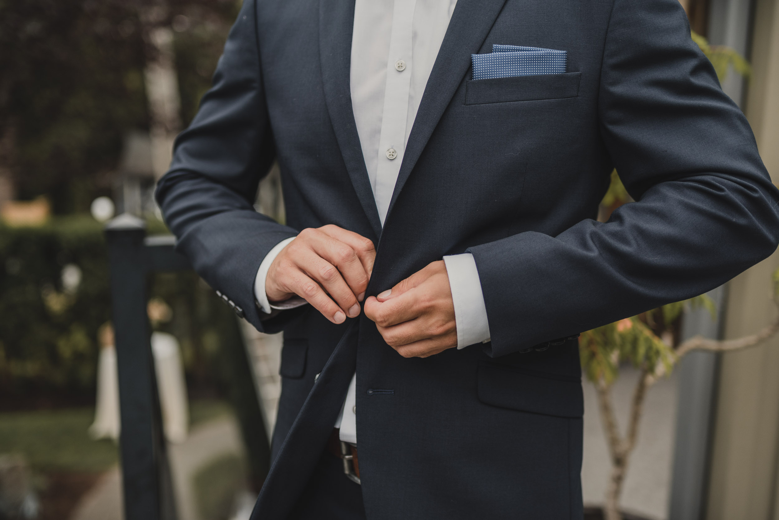 Grooms buttons up jacket