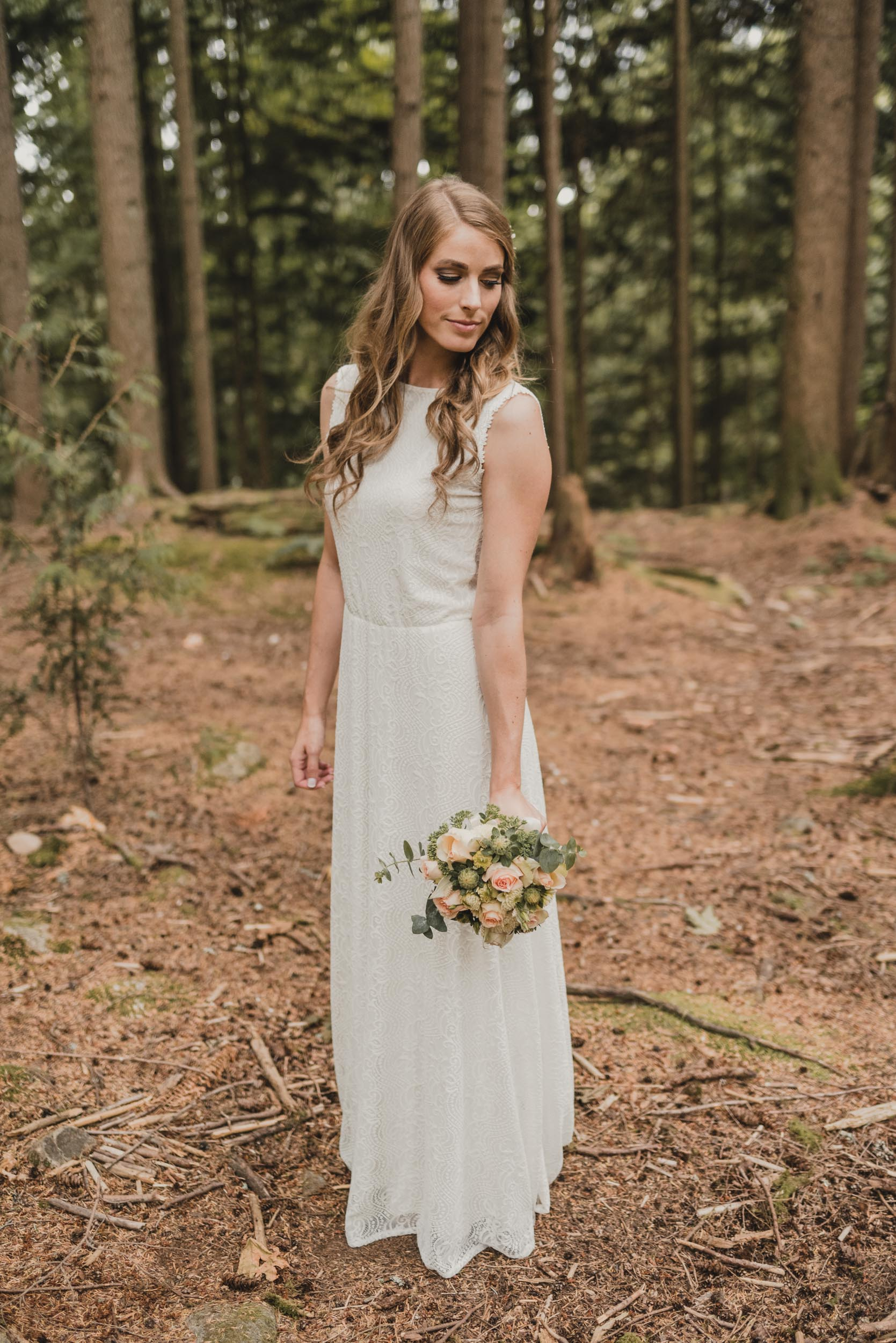 Bride portrait in forest