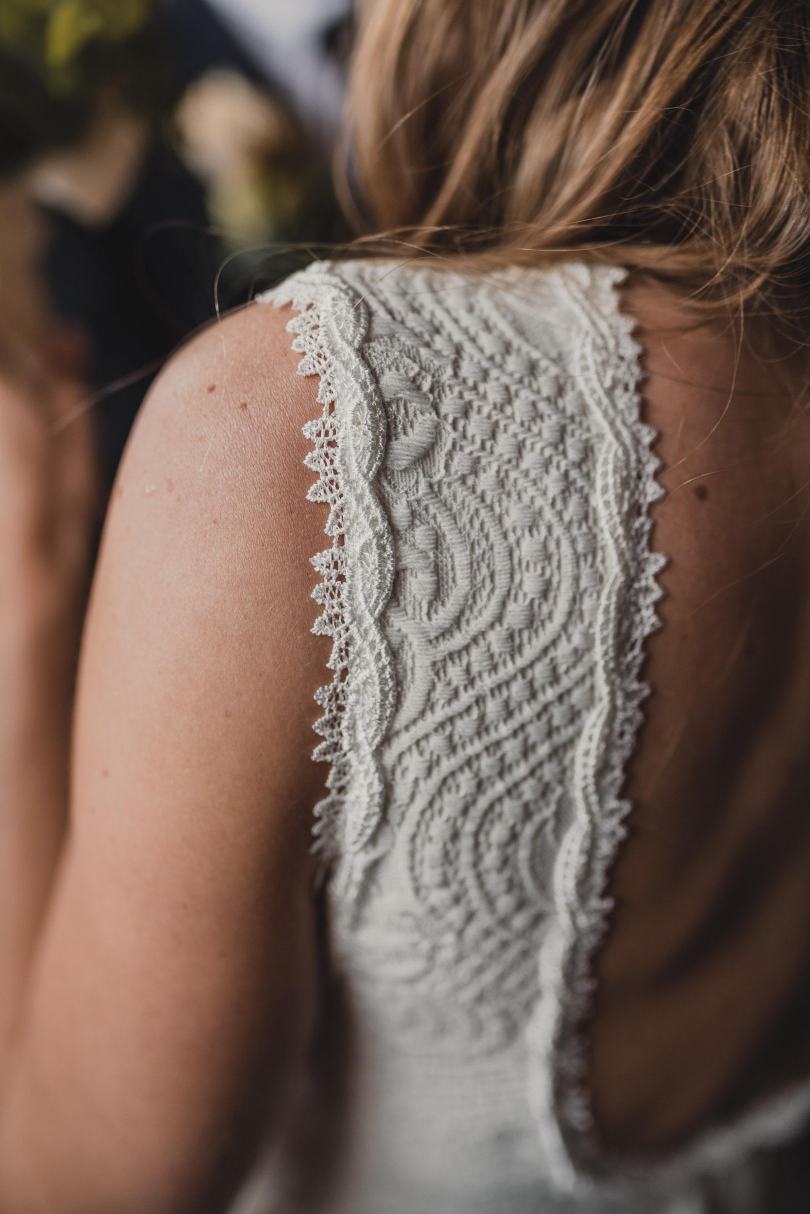 Bride's dress detail