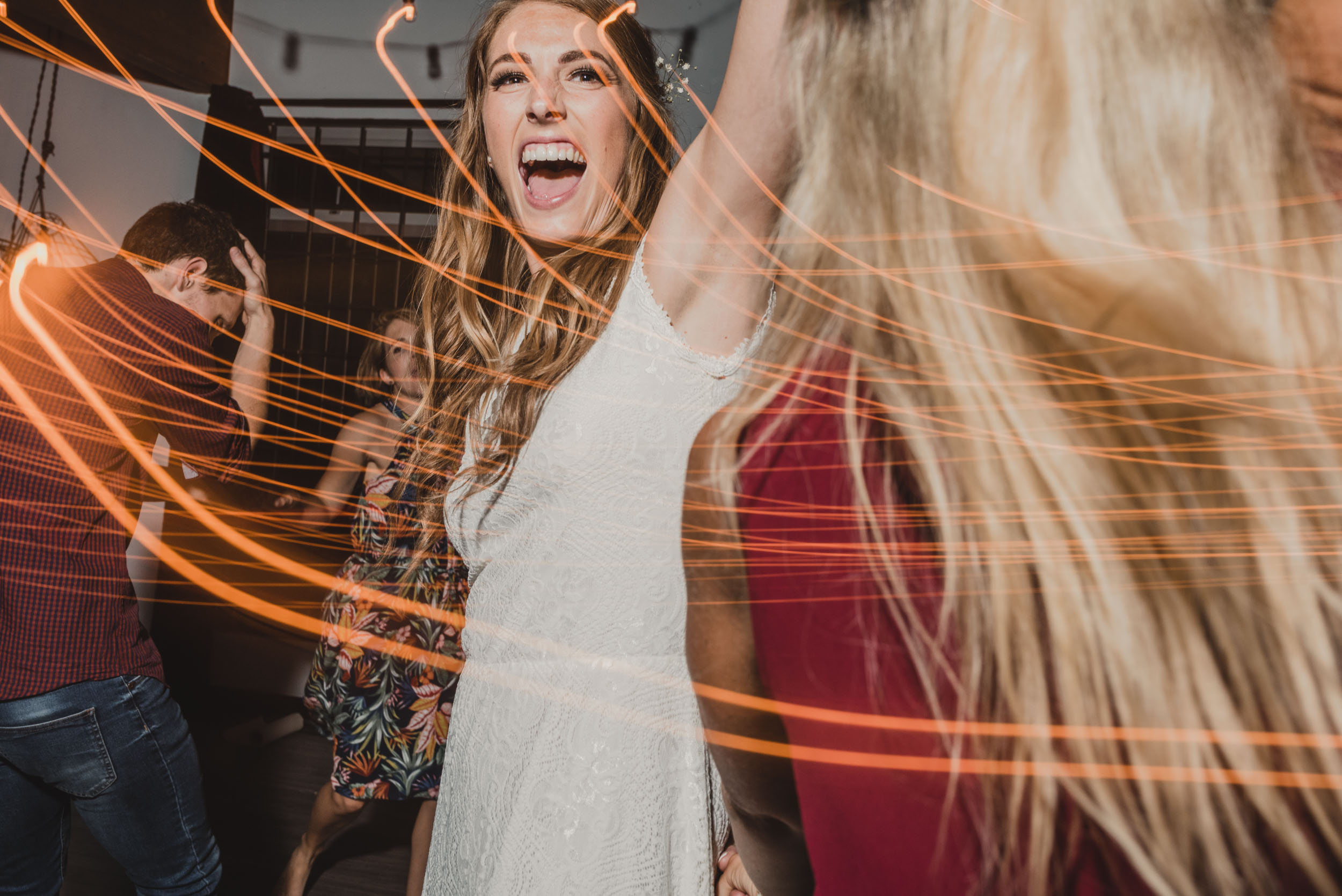 Bride dancing at afterparty