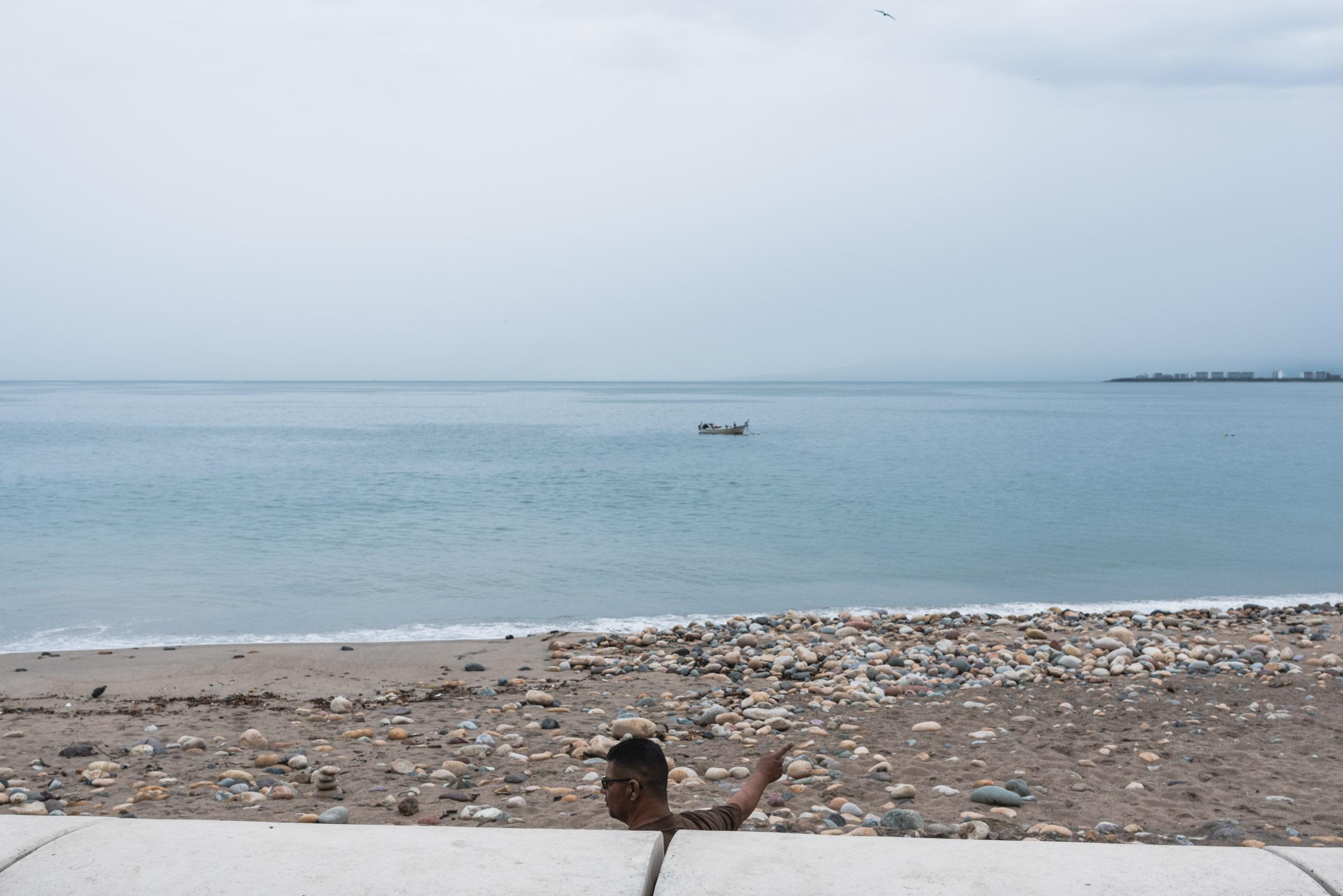 Puerto Vallarta Malecon beach street scene