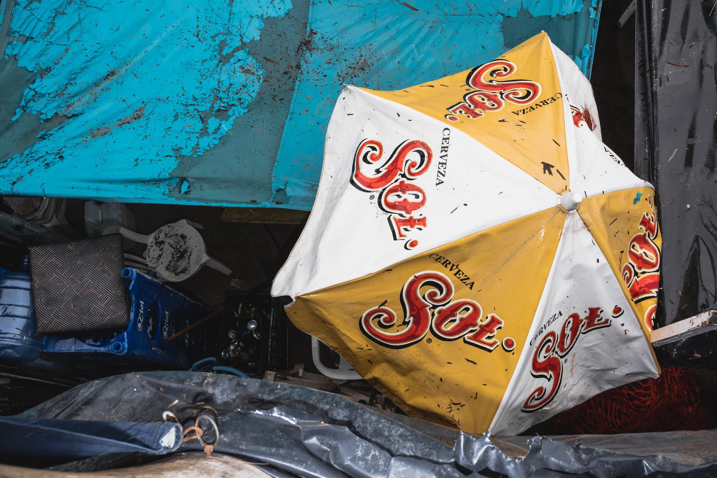 Puerto Vallarta restaurant umbrellas
