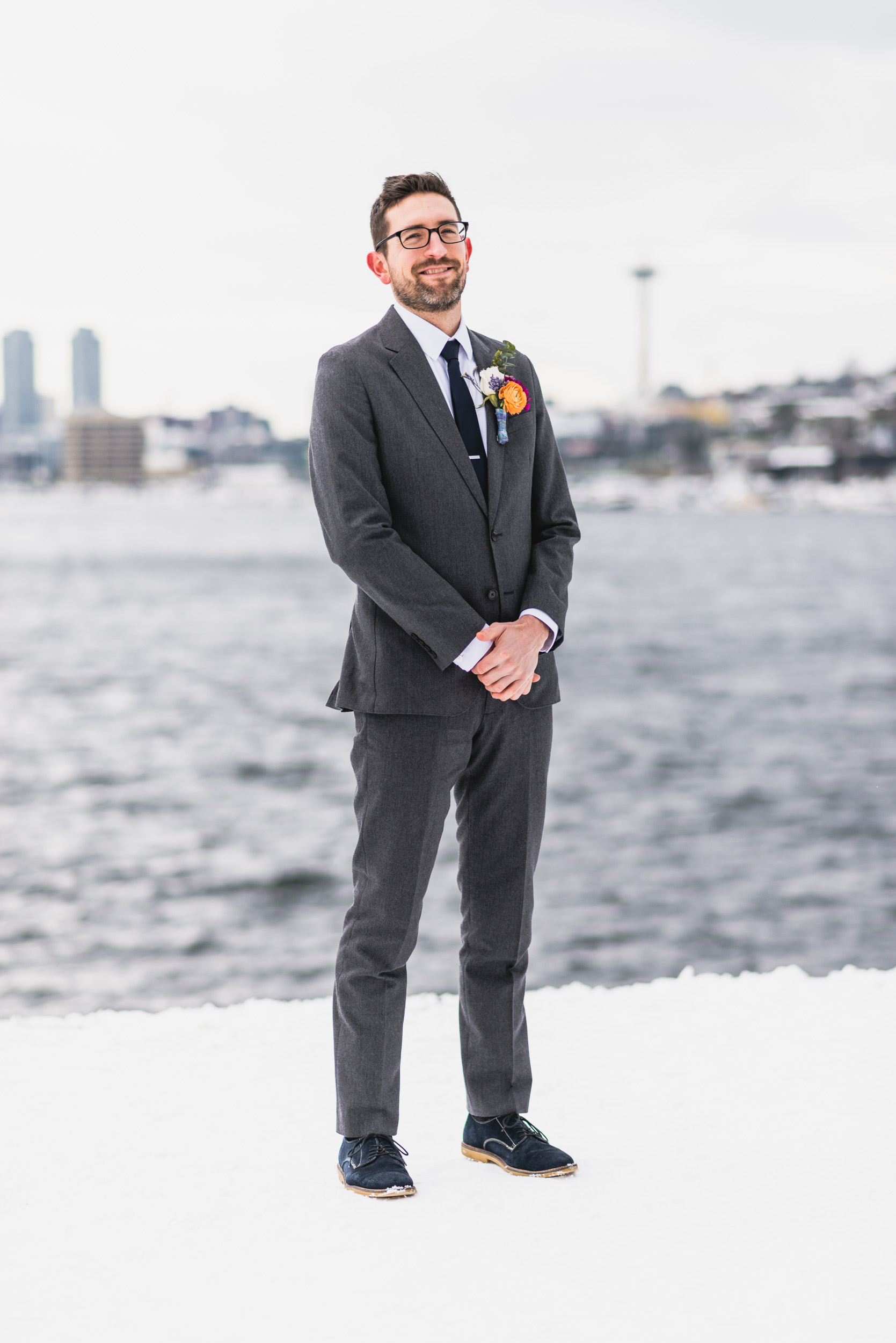 Groom outdoor portrait