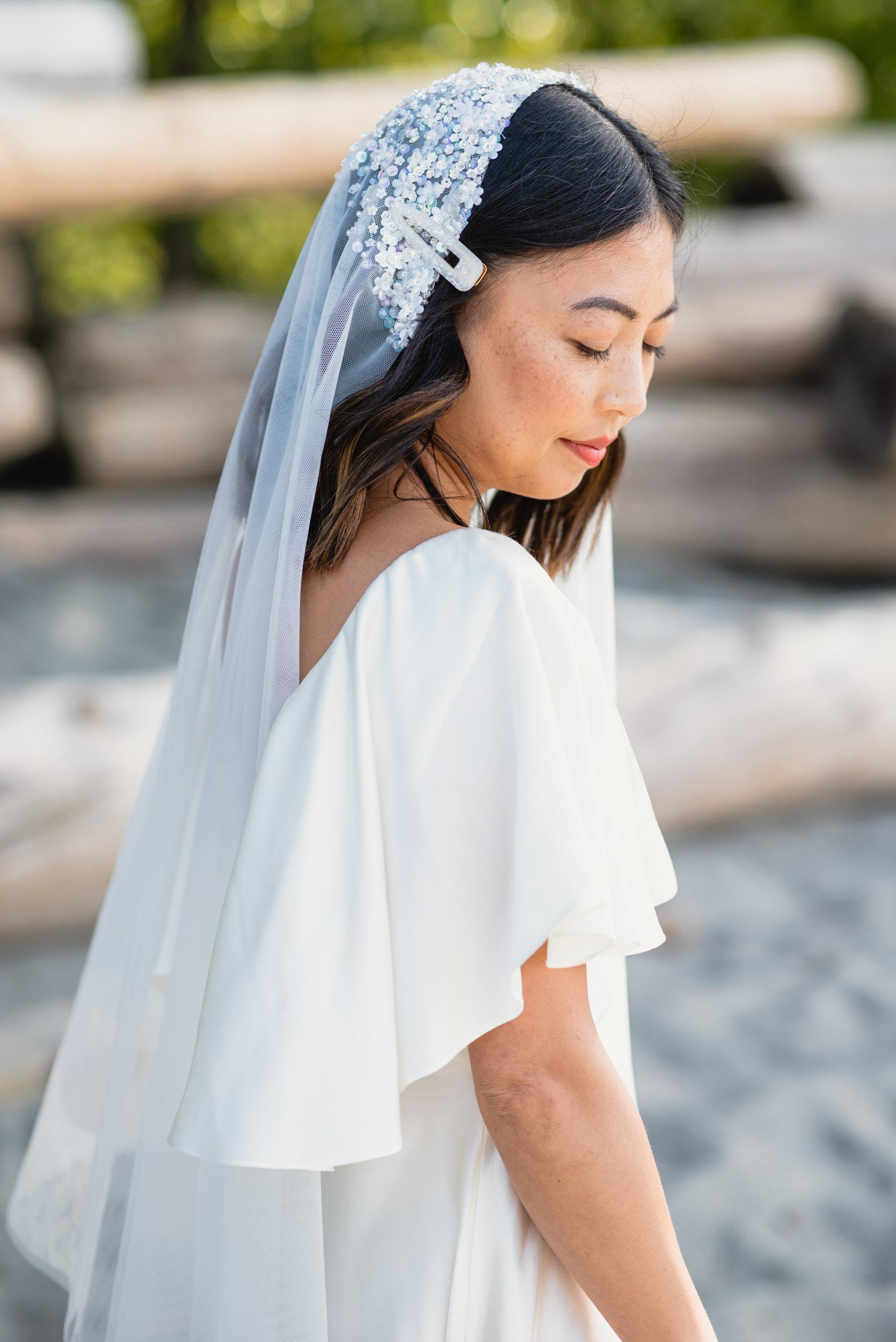 Bride portrait at beach