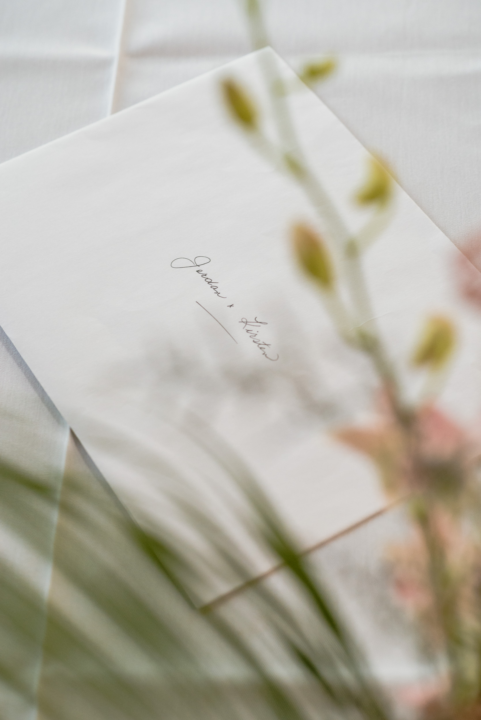 Wedding licence on table