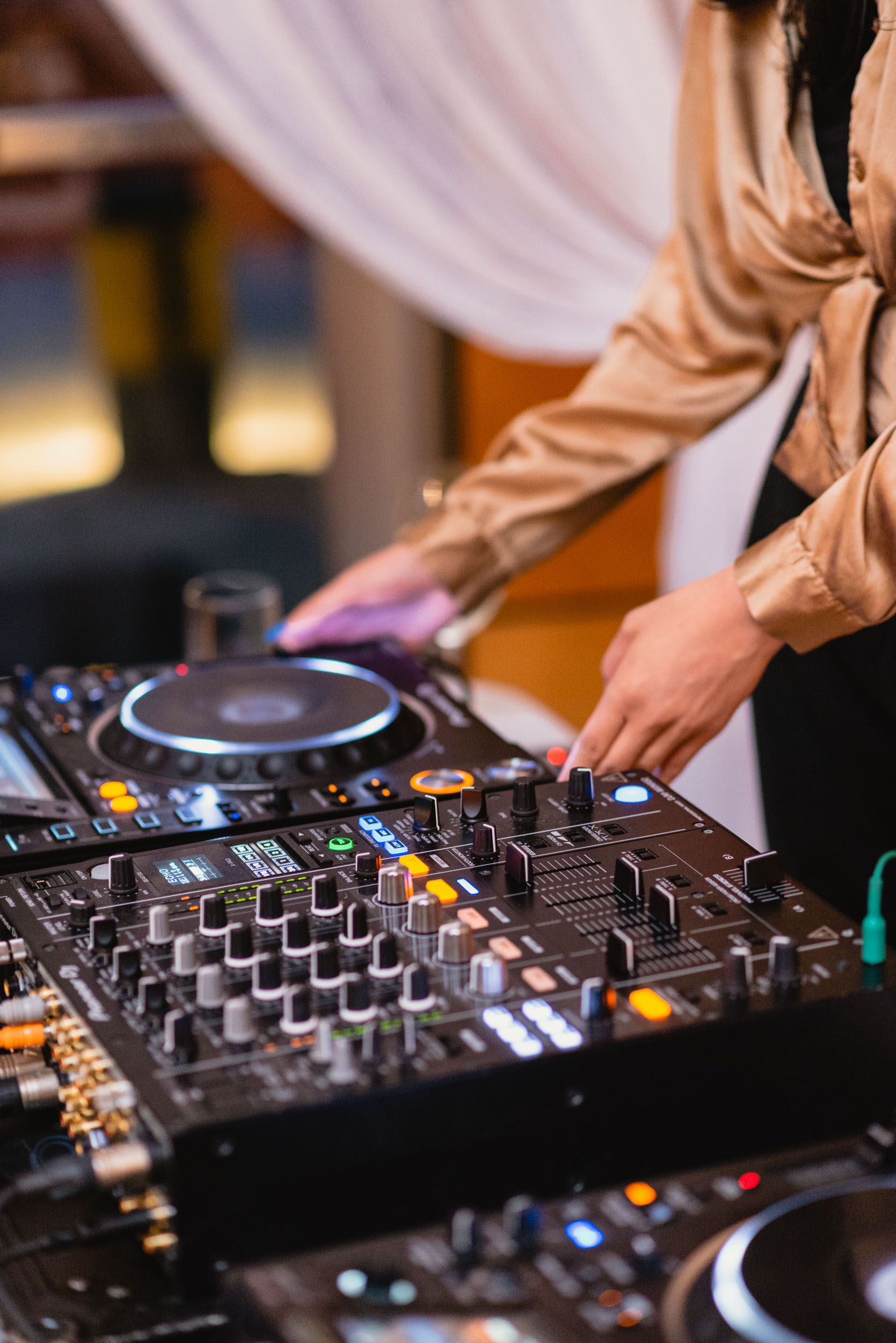 DJ playing music at reception