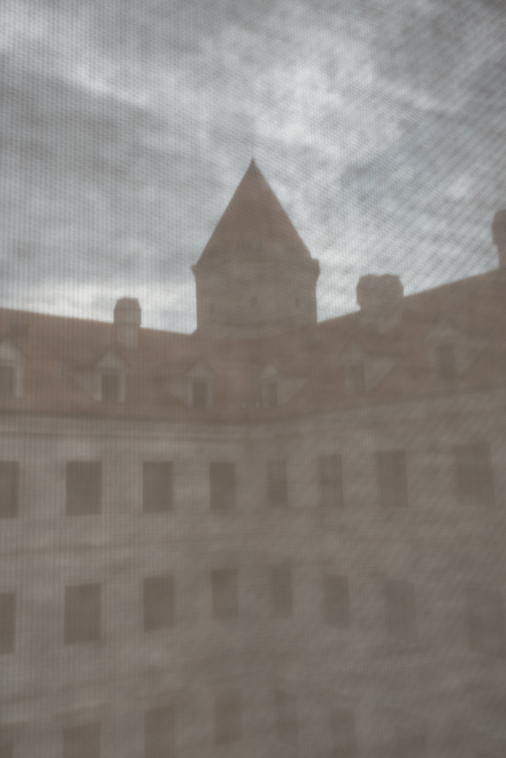 Bratislava castle through screen
