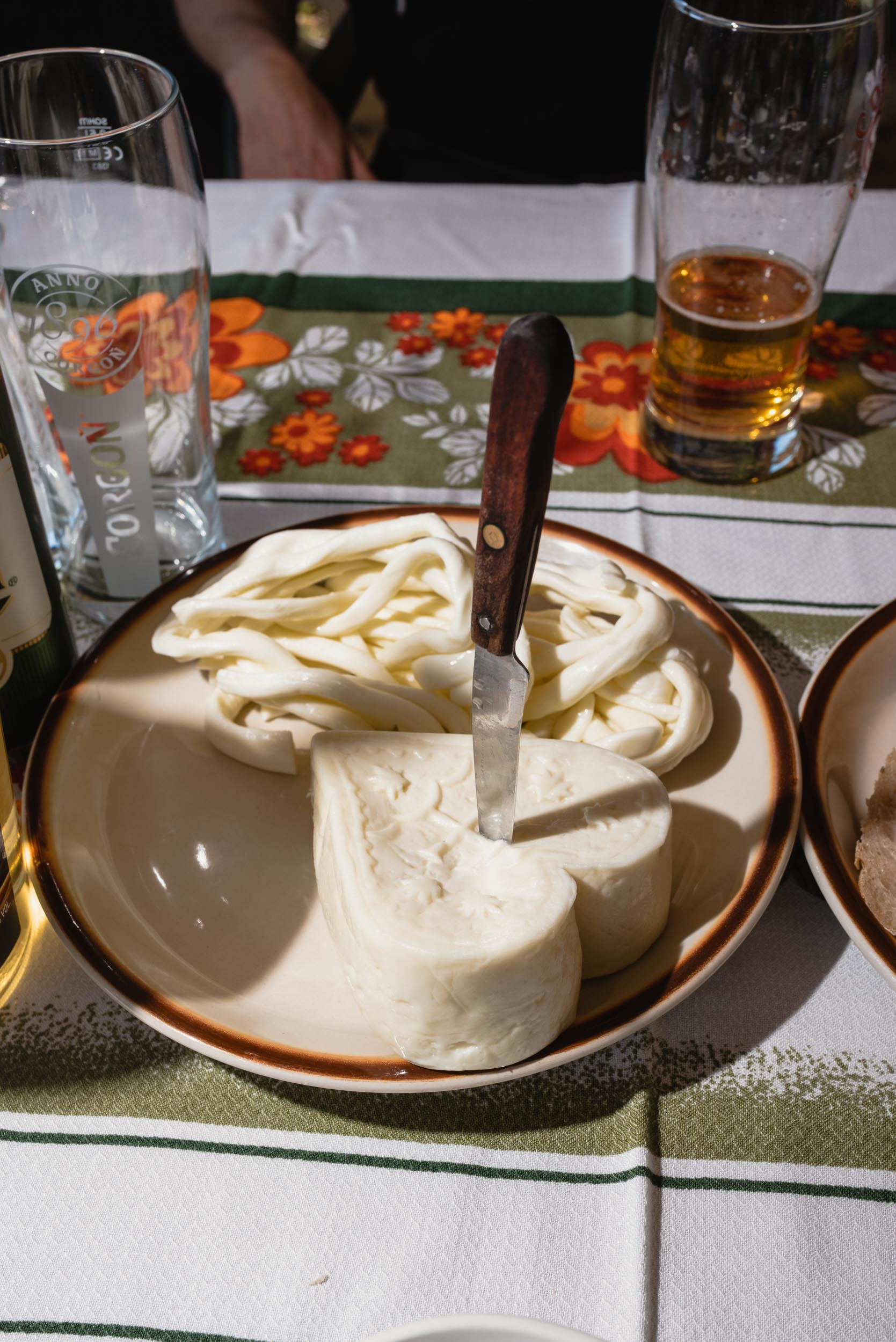 Slovak sheep cheese heart-shaped