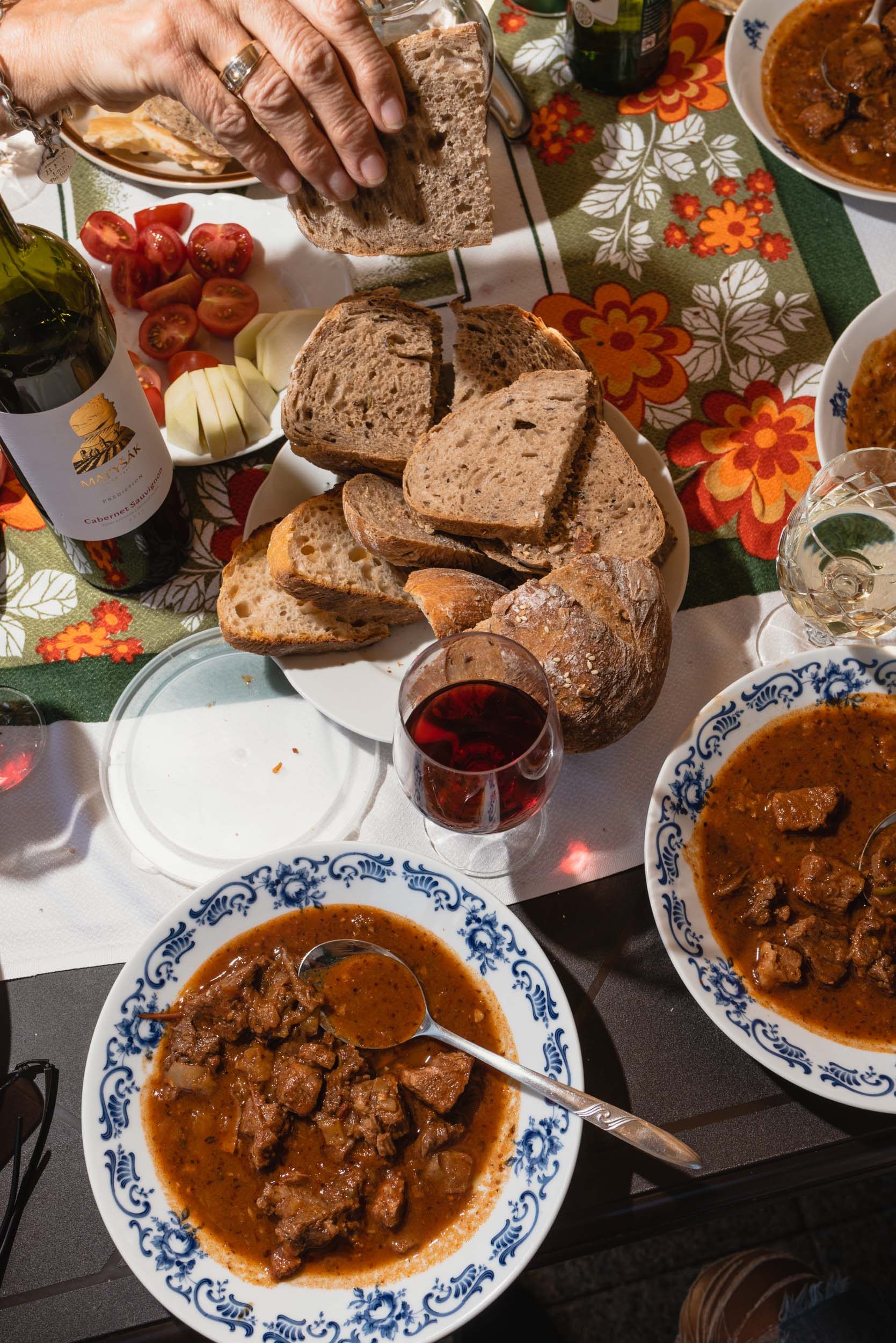 Slovak food goulash dinner