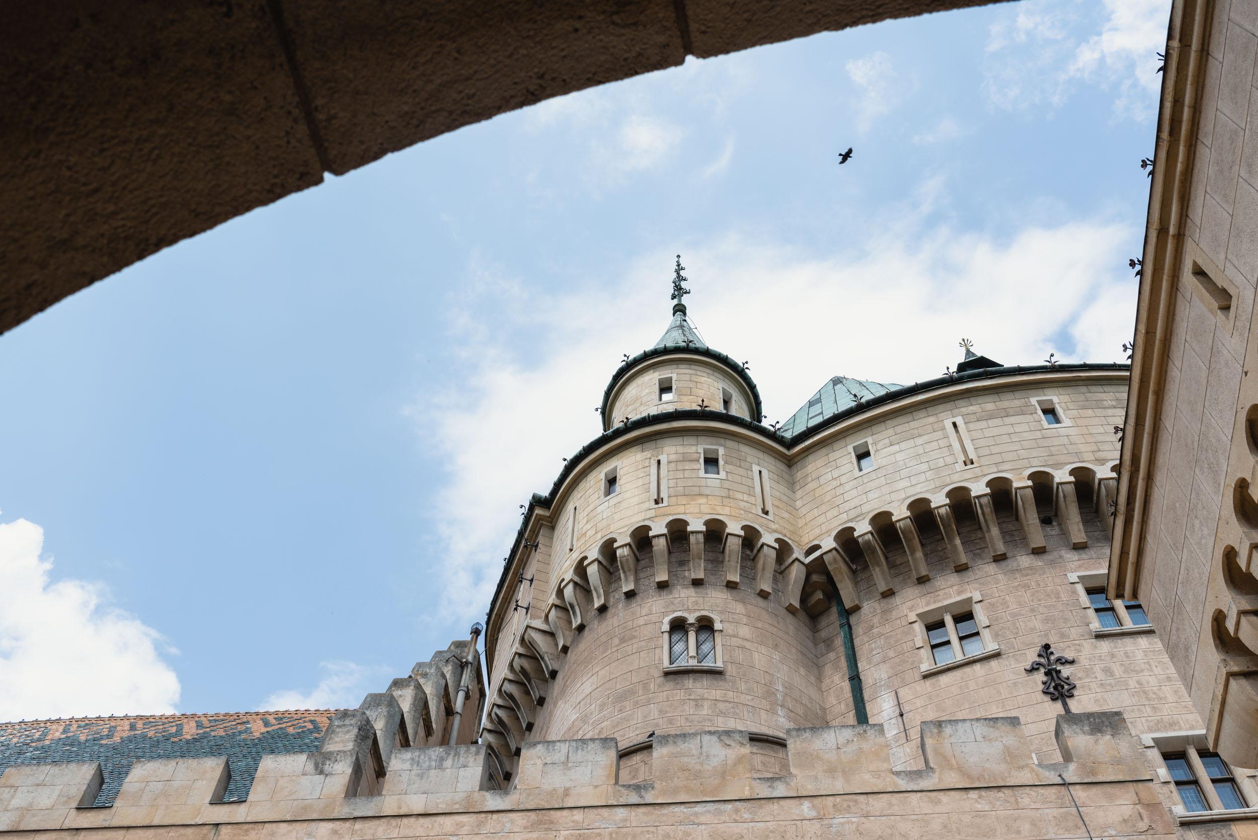 Bojnice Castle inner courtyard