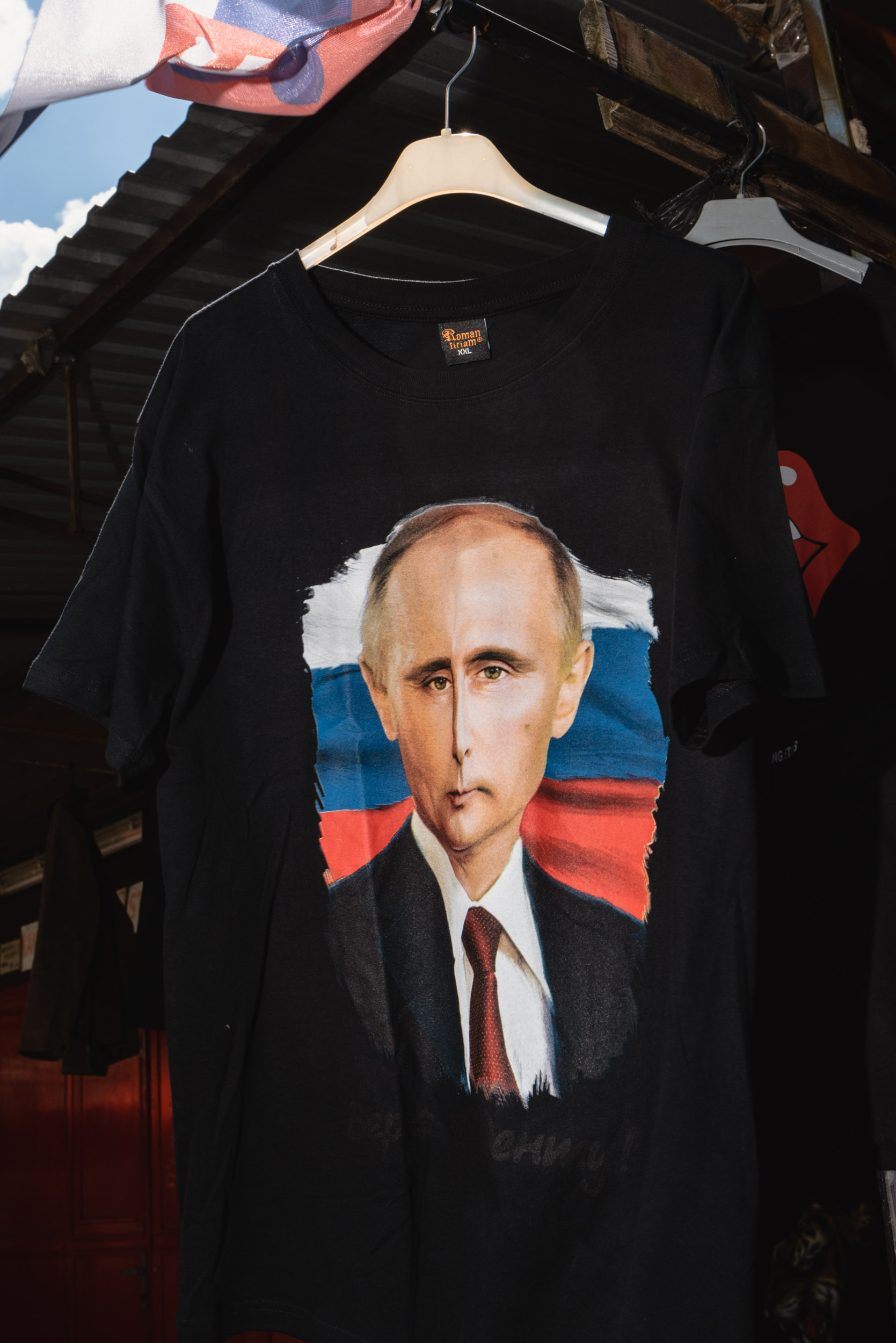 Vladimir Putin t-shirt at Marketplace Miletičova