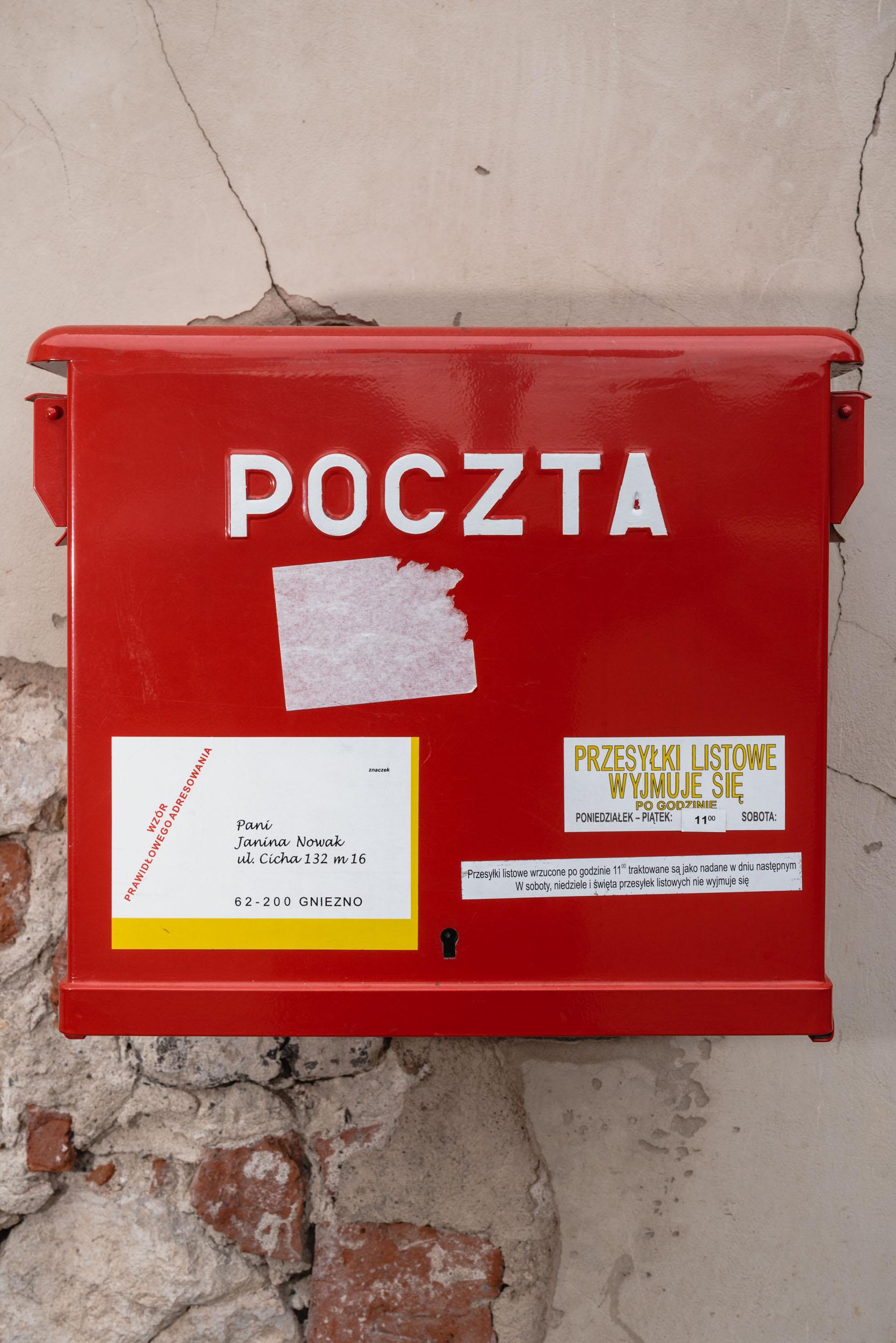 Polish mailbox Krakow Old Town