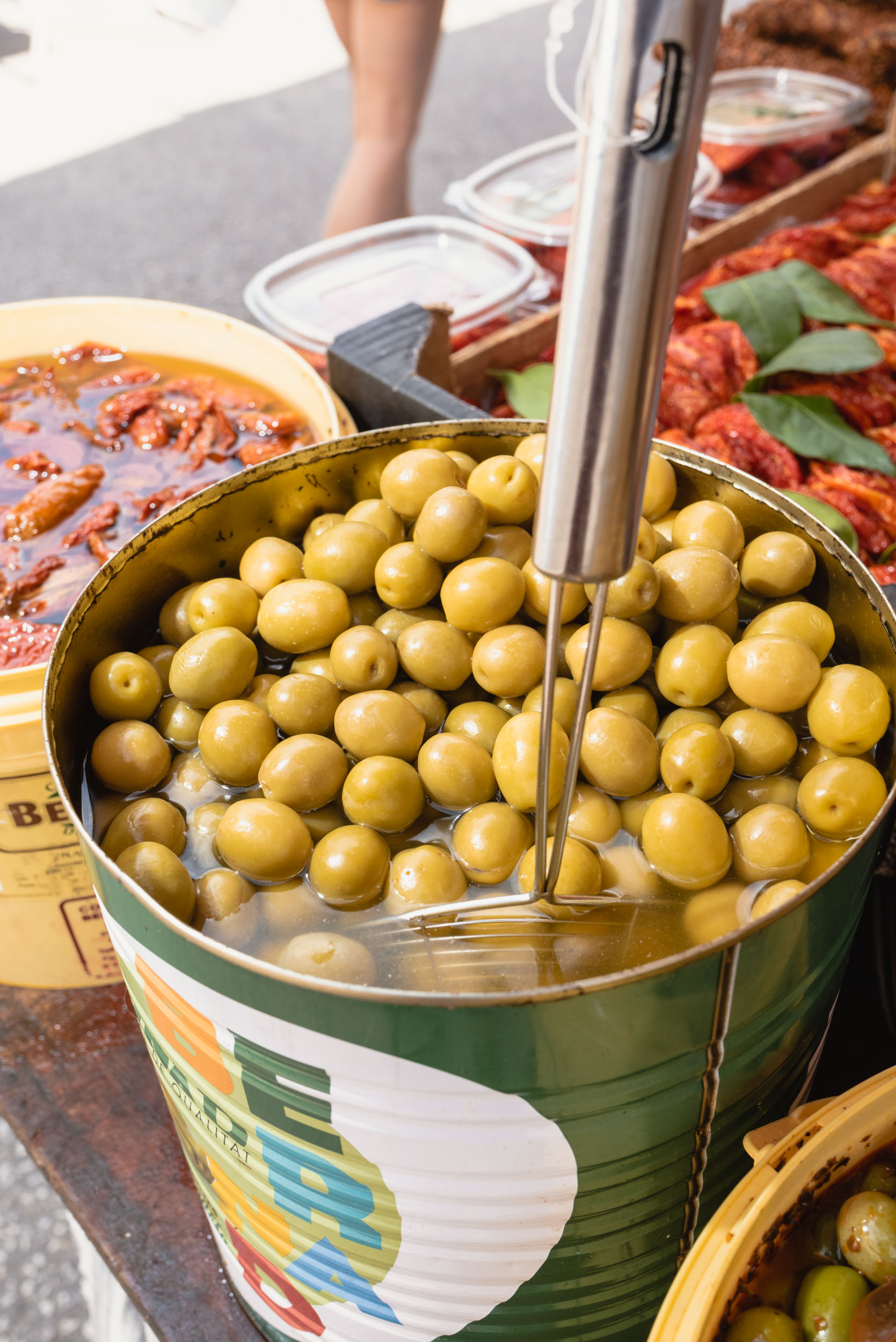Olives for sale in Sineu market