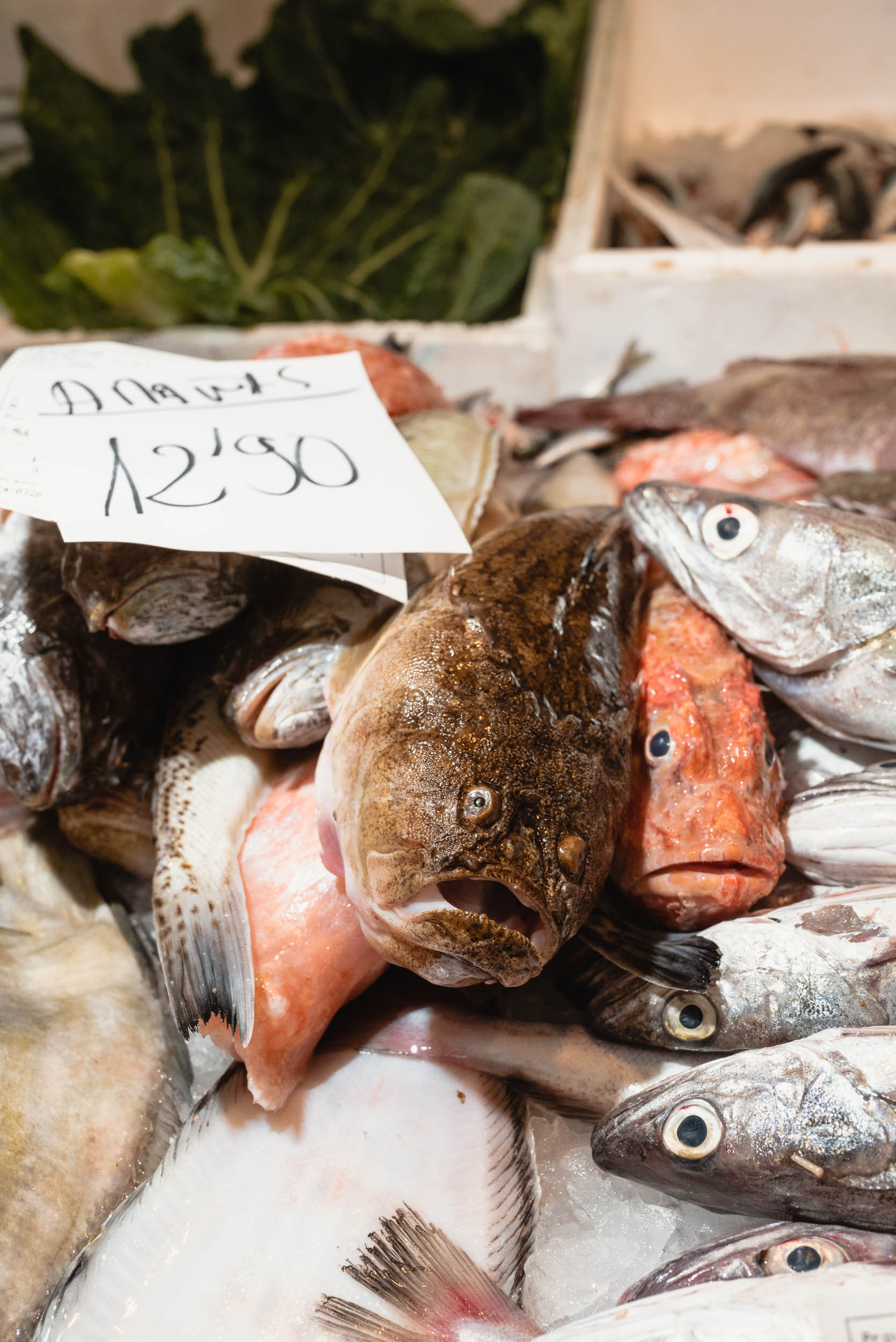 Fish for sale in Sineu, Spain