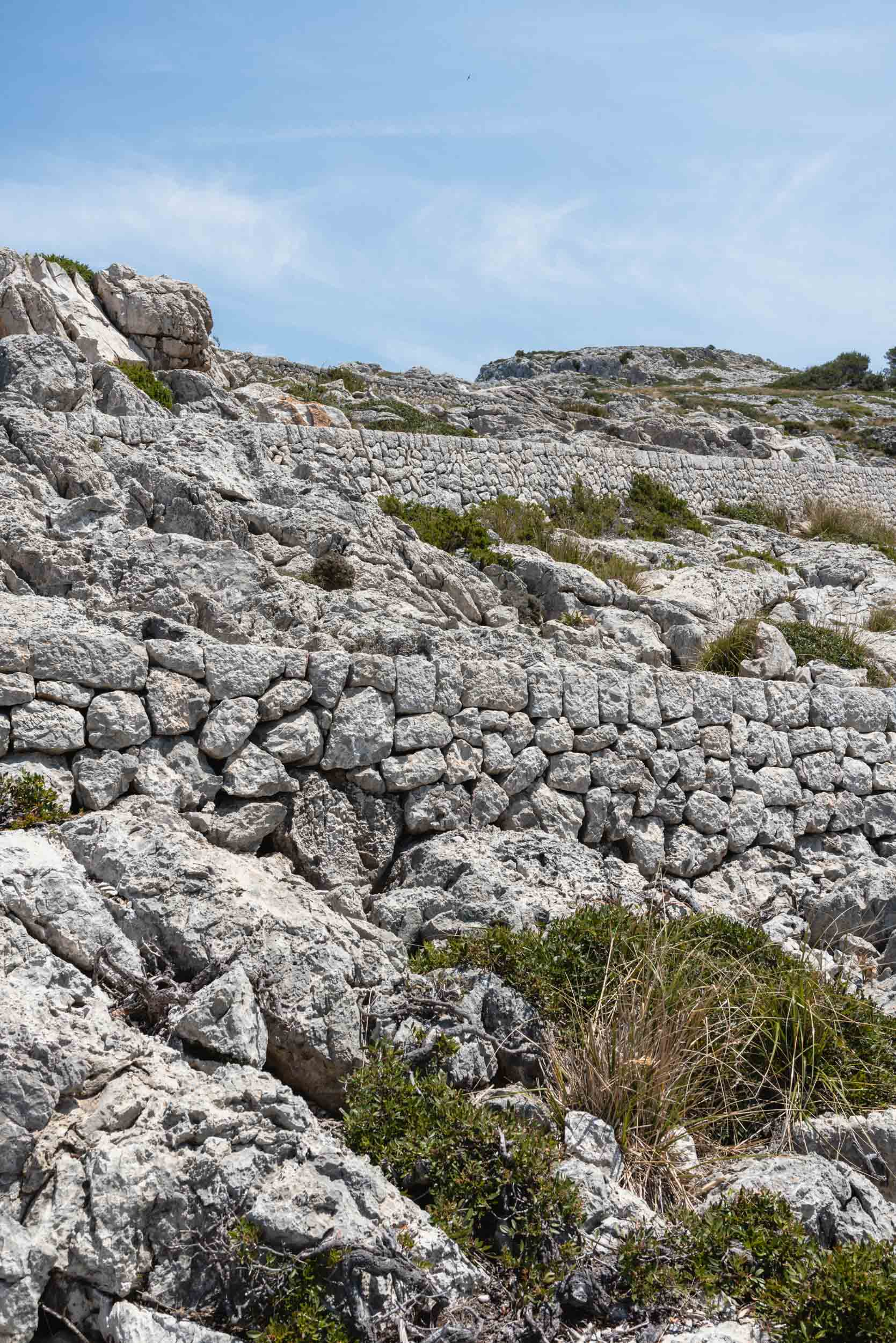 Textured rocks at Mirador lookout Mallorca
