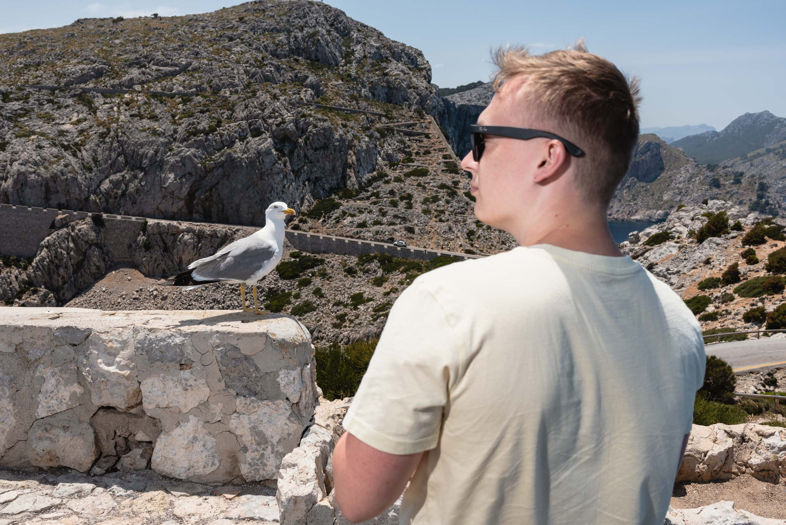 Man with seagull Cap Formentor