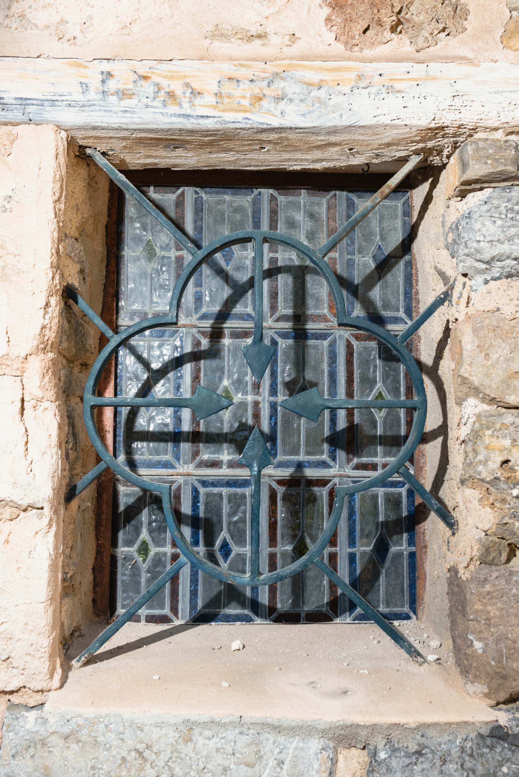 Rod iron detail window Deia, Spain
