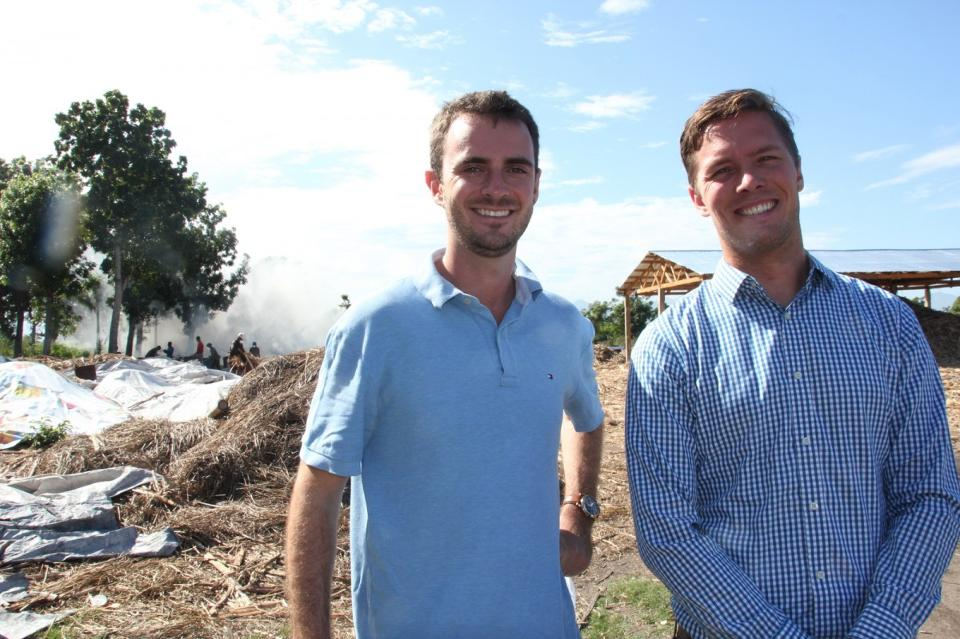 Ryan Delaney and Eric Sorensen of Carbon Roots near Cap Haitien, Haiti. Photo by Devin Thorpe.