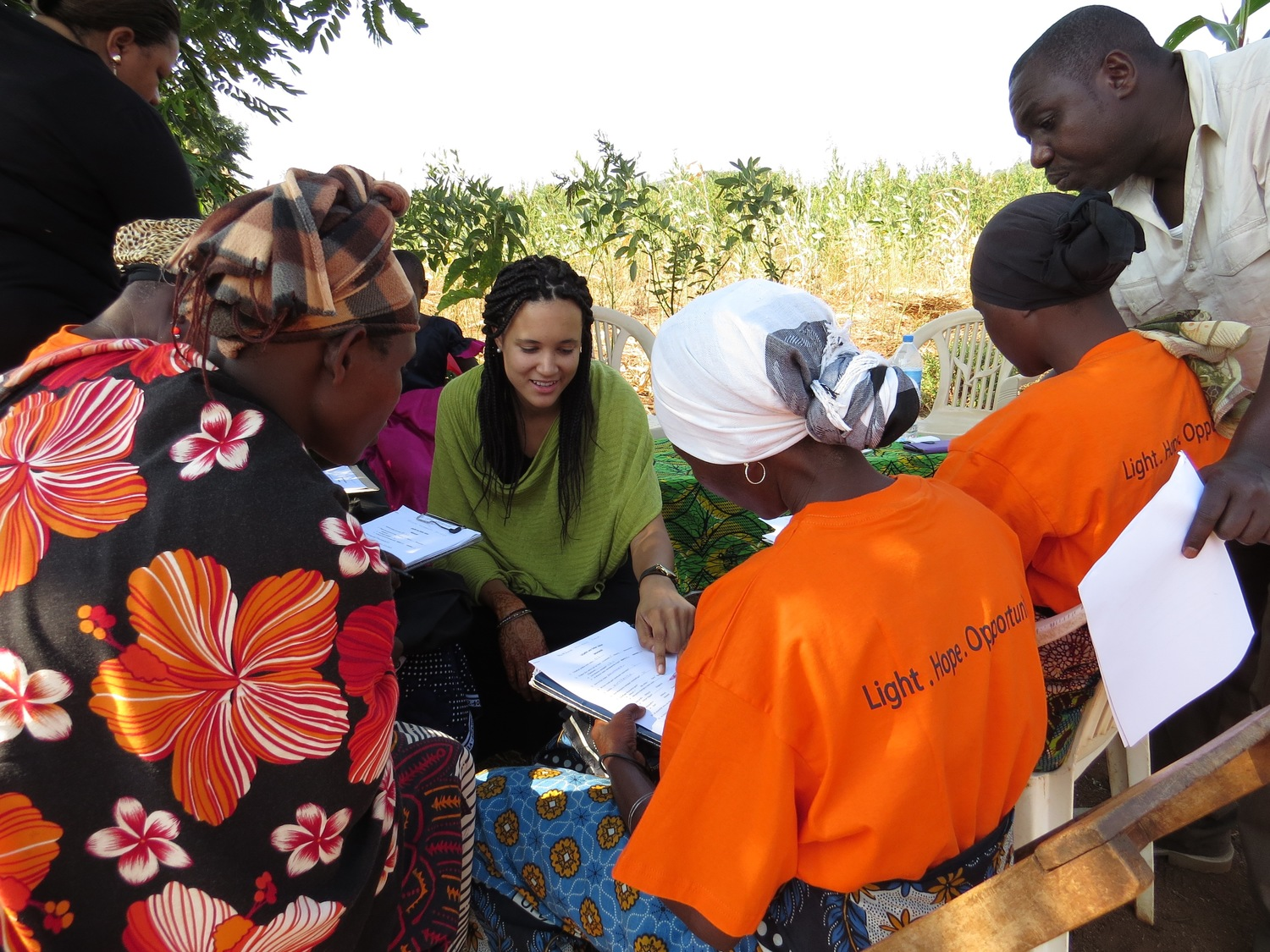 GLOBAL SOCIAL BENEFIT FELLOW, LINDSEY ALLEN, RESEARCHES AND WORKS WITH SOLAR SISTER IN TANZANIA.