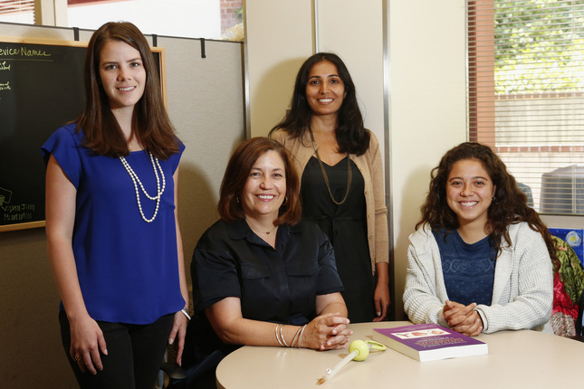 MEMBERS OF THE INPRESS TECHNOLOGIES TEAM ARE PHOTOGRAPHED AT THEIR OFFICE IN EL CAMINO HOSPITAL IN MOUNTAIN VIEW, CALIF., ON WEDNESDAY, JUNE 29, 2016. LEFT TO RIGHT ARE JESSIE BECKER, ANNE MORRISSEY, VRUNDA RATHOD, AND MIKELLE FOSTER. THEIR TEAM INVENTED THE INPRESS DEVICE THAT PREVENTS WOMEN IN DEVELOPING COUNTRIES FROM DYING FROM POSTPARTUM HEMORRHAGING. (GARY REYES/BAY AREA NEWS GROUP)