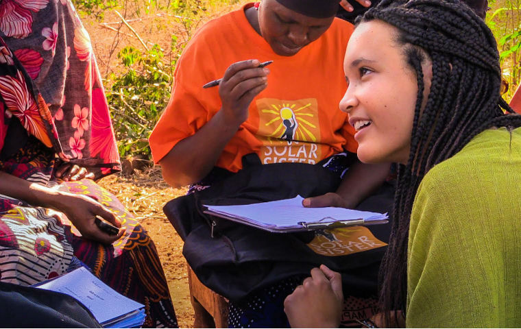 LINDSEY ALLEN '16 WORKED AS A GLOBAL SOCIAL BENEFIT FELLOW THROUGH MILLER CENTER FOR SOCIAL ENTREPRENEURSHIP. WORKING WITH SOLAR SISTER, SHE TRAVELED TO 15 EAST AFRICAN VILLAGES CONDUCTING ACTION RESEARCH.
