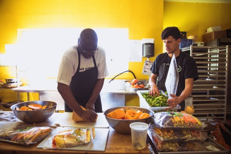 Farming Hope employs transitioning homeless with work in cooking and farming.