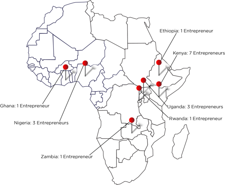 OUR 17 FINALISTS ARE REPRESENTED ACROSS 9 COUNTRIES IN AFRICA