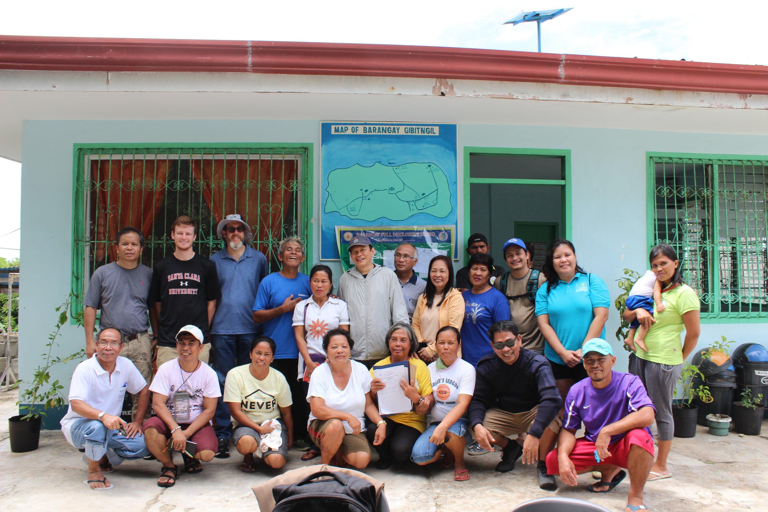 Miller Center, USC, and RAFI staff visit Gibitngil Islet to explore social enterprise opportunities