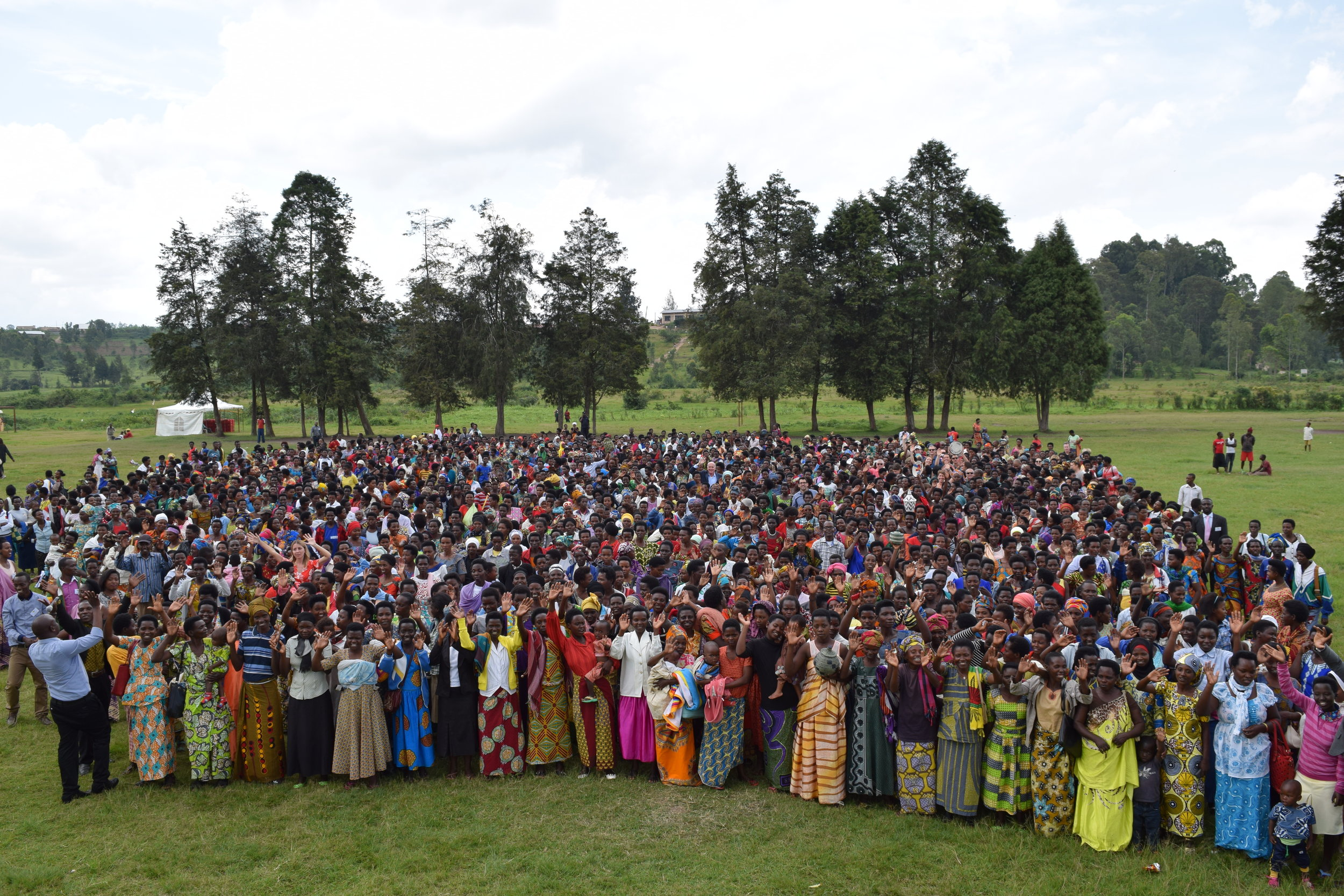 All Across Africa's annual meeting of women's cooperatives: over 1,800 artisans came together to celebrate escape from poverty and hope for Rwanda's future.