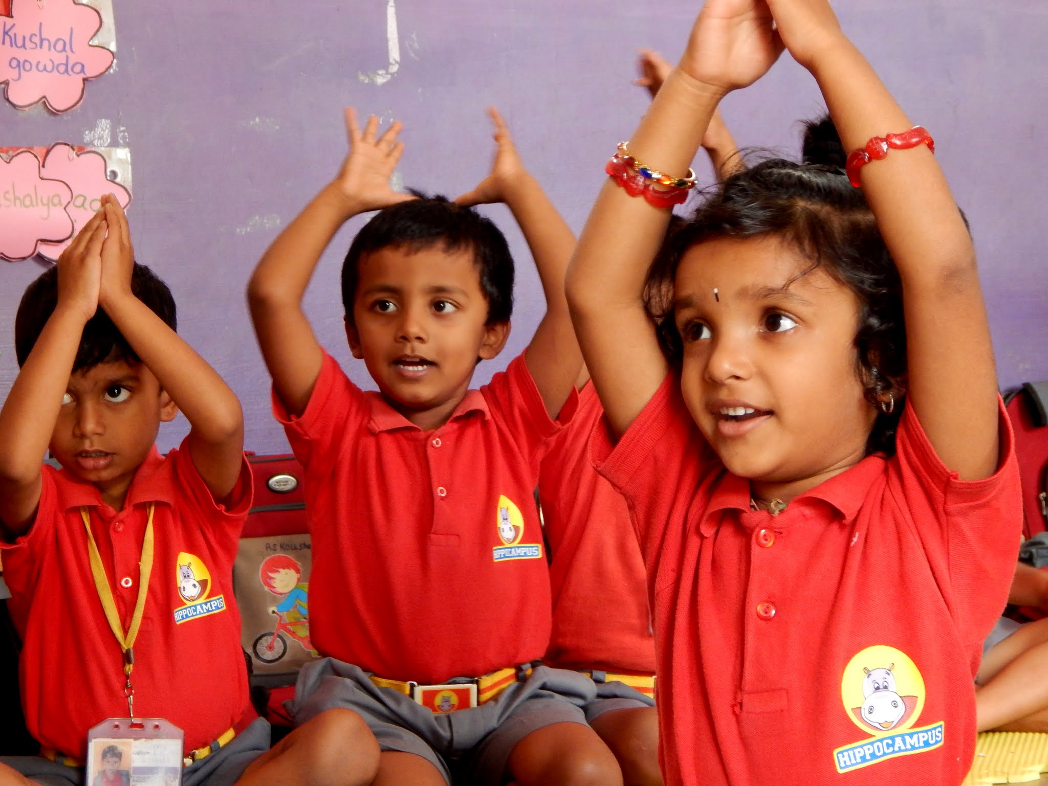 Students at Hippocampus Learning Center (India).