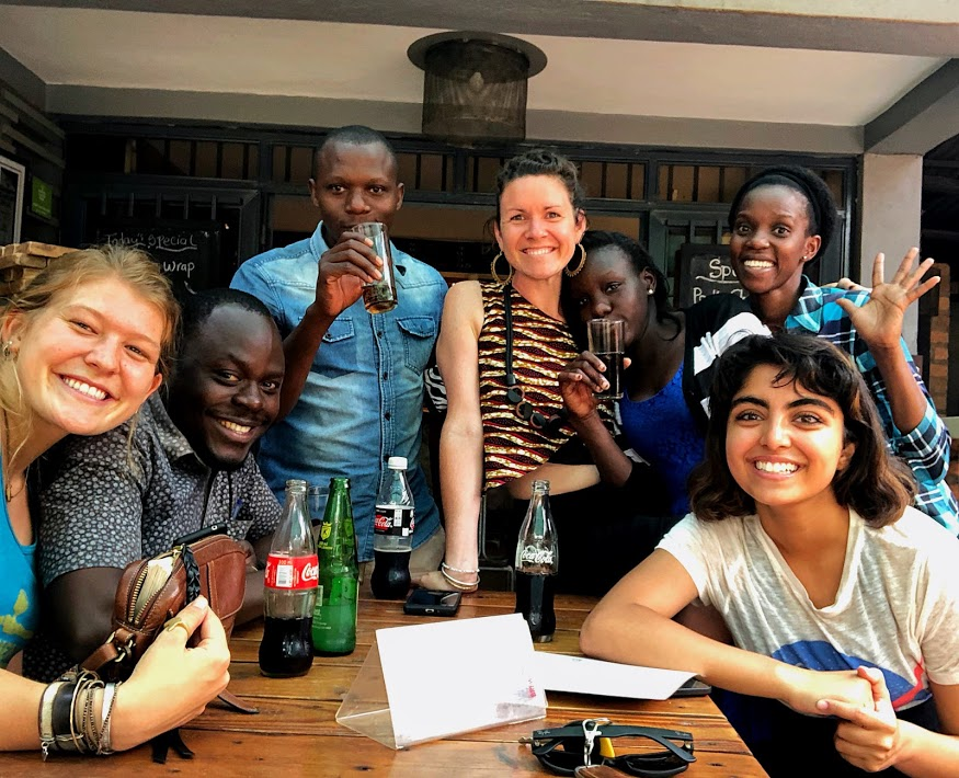 We were so thrilled to find the staff from the Uganda office waiting for us downstairs on our last day at Bushpig!