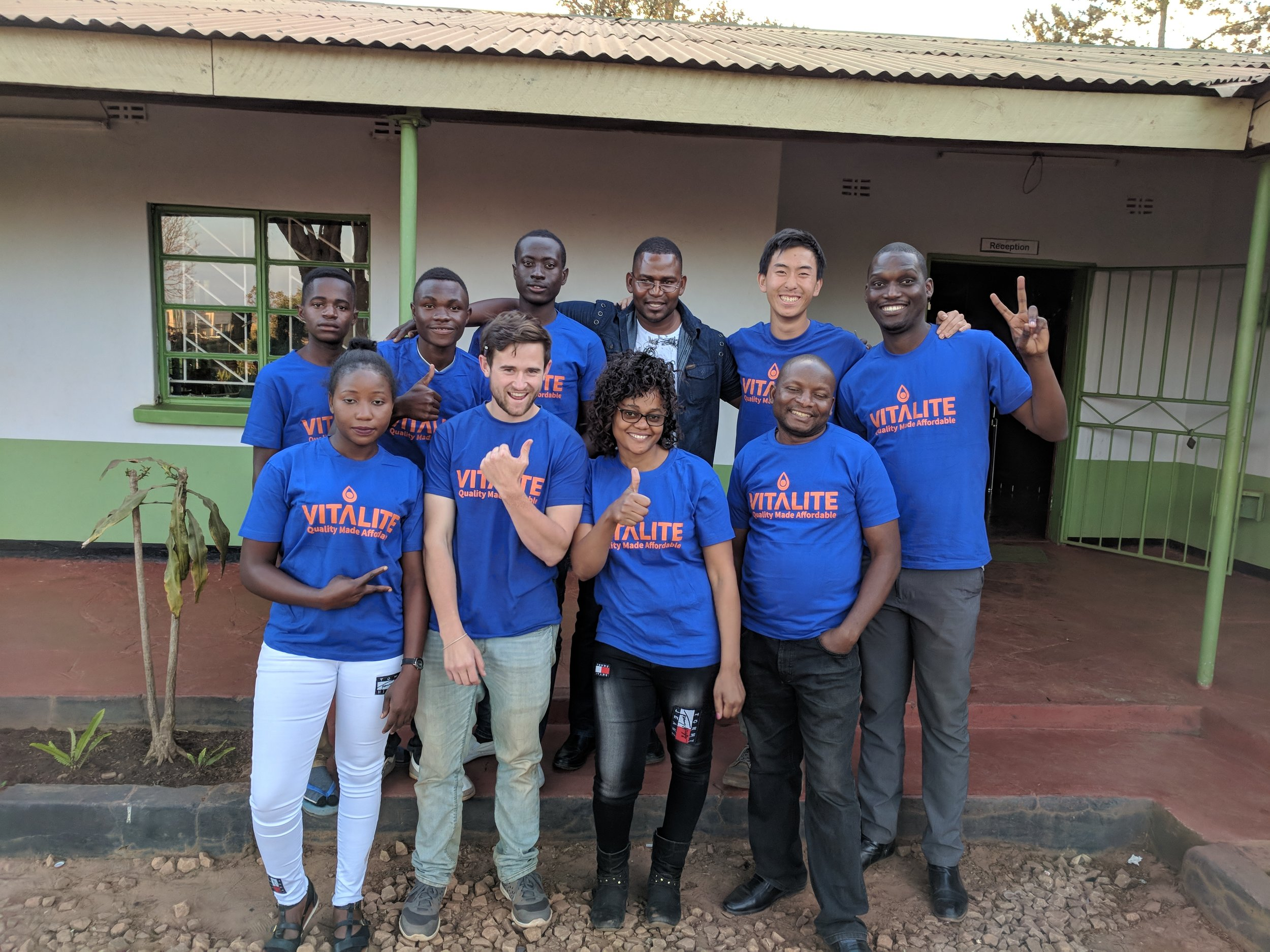Group of sales agents trained in Kasama and the future for VITALITE