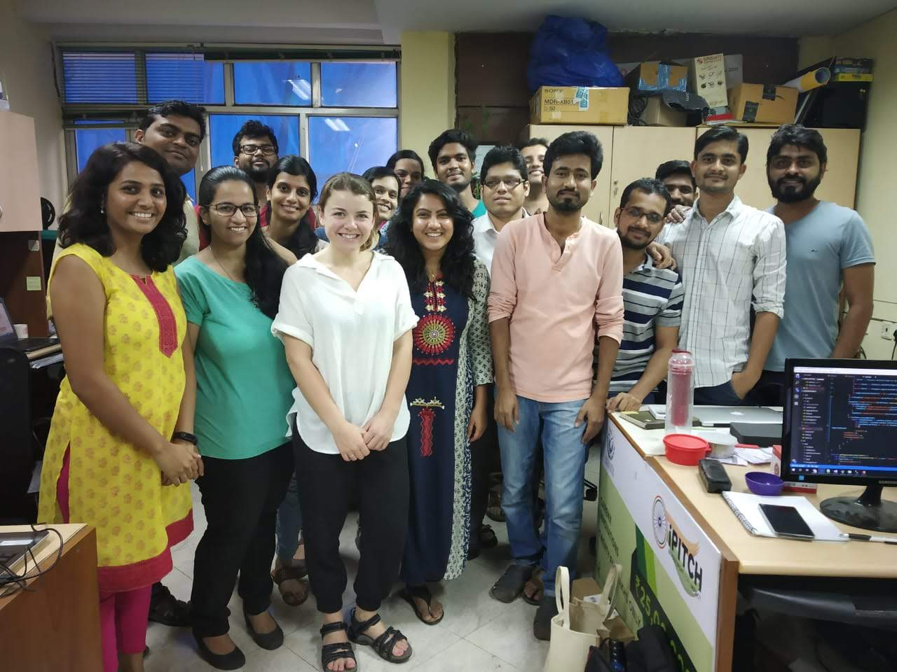 The CareNX Team at the HQ at IIT (Mumbai, India)