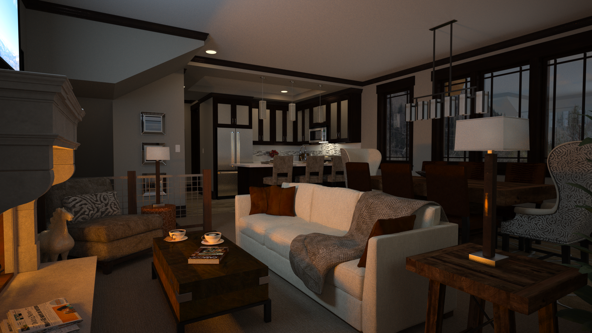 3D rendering of Blackstone Townhomes