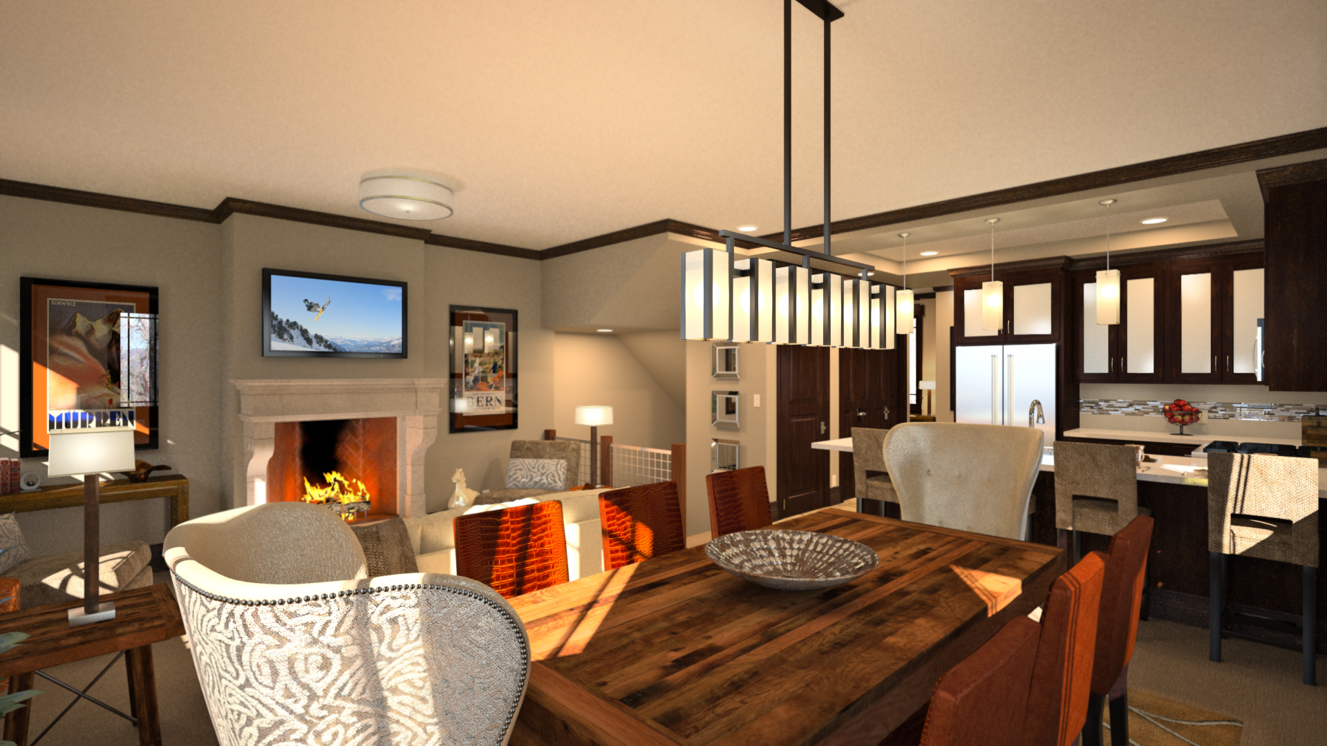 3D rendering of Utah townhome