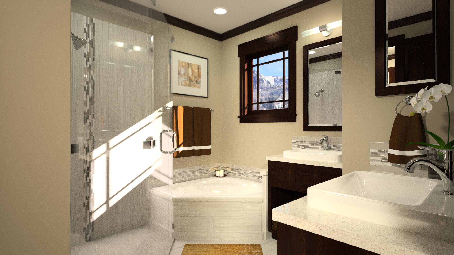 3D Rendering Master Bath