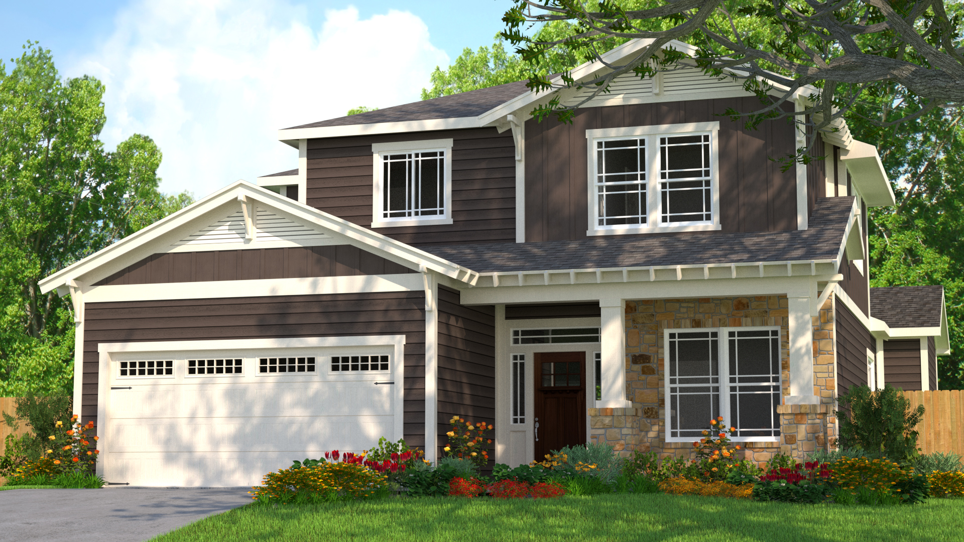 3D Home Rendering - Exterior Paint 2
