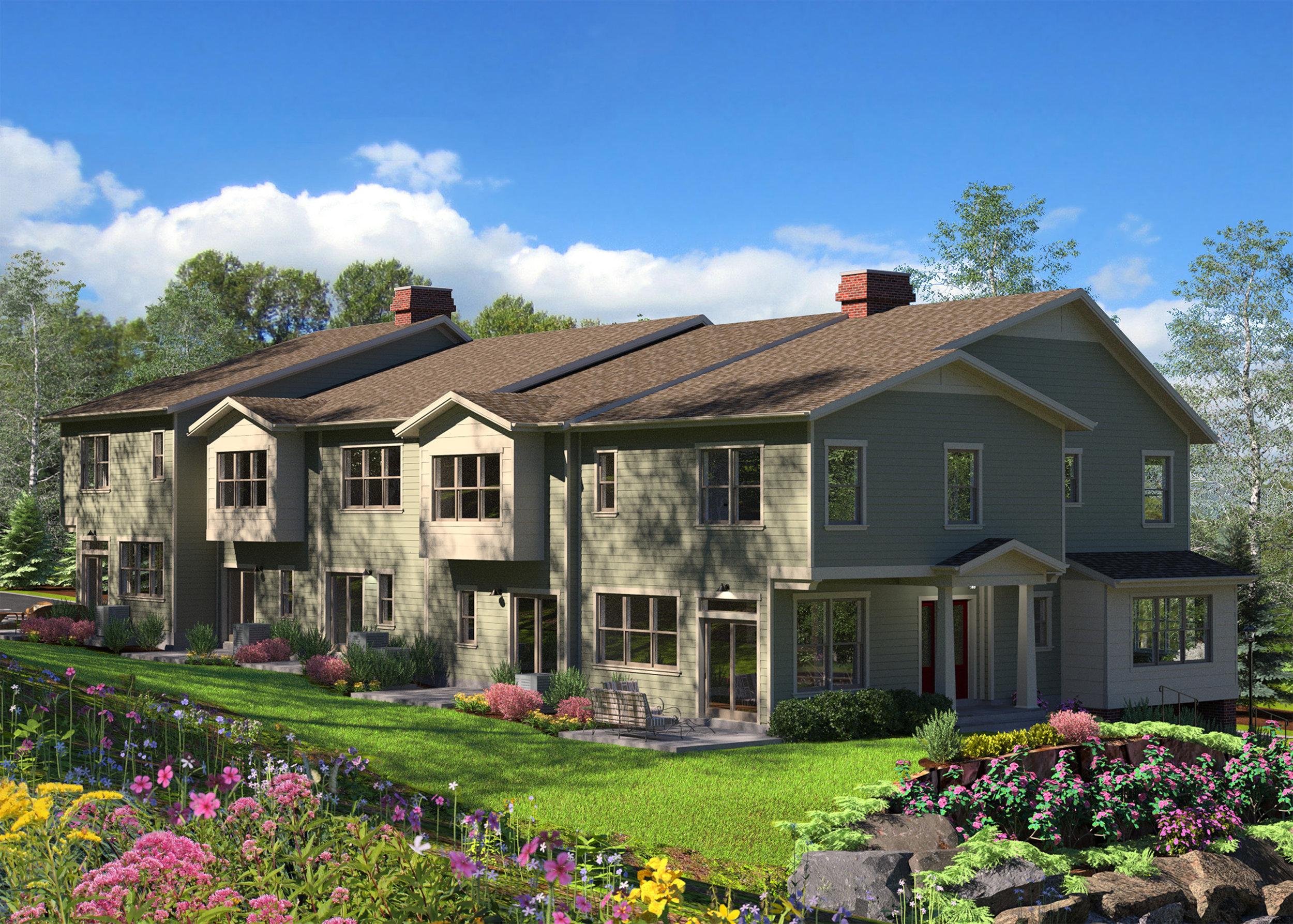3D Rendering of Apartment Exterior
