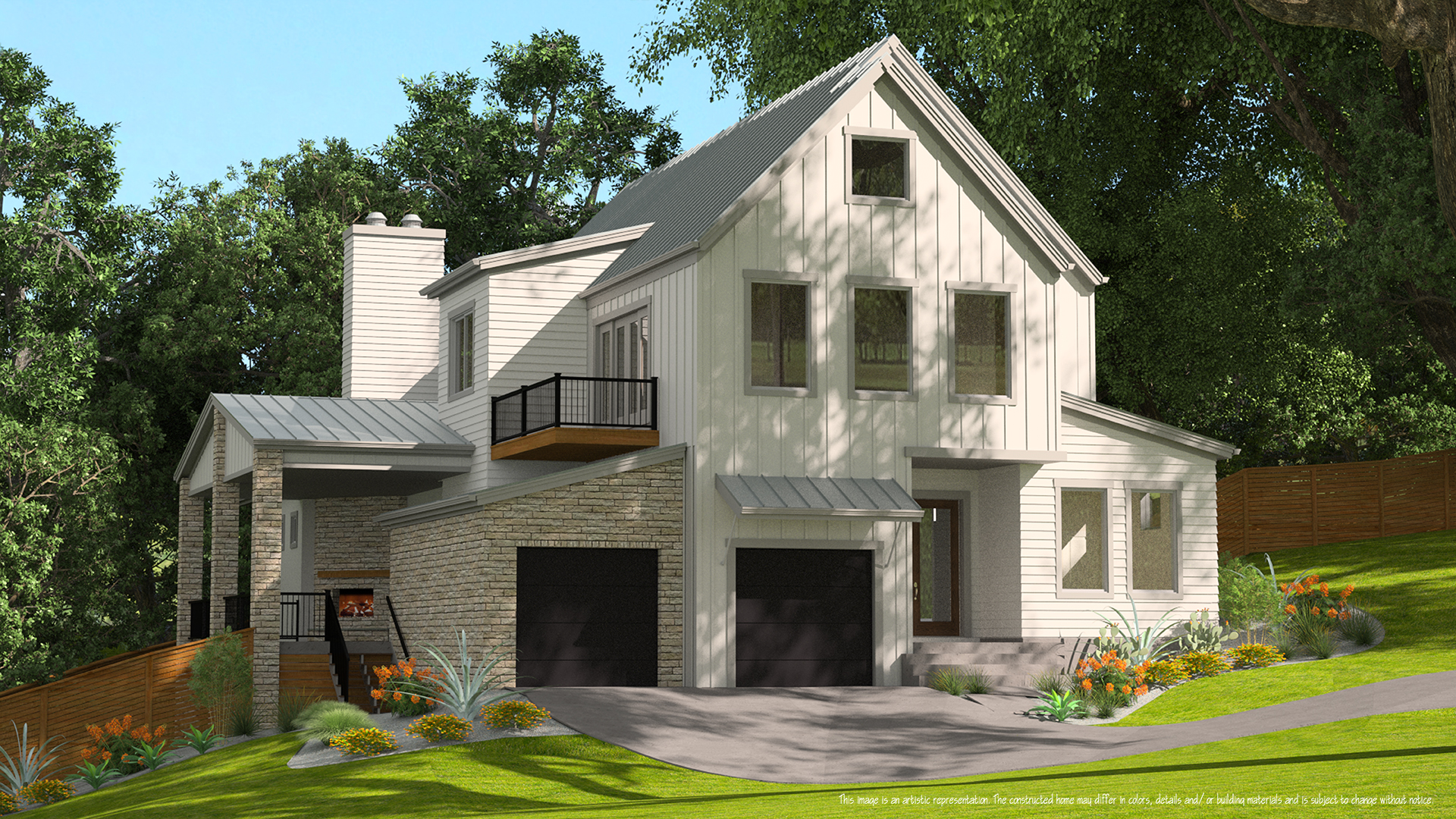 3D Exterior Production Renderings - Various builders commissioned production 3D renderings to use as marketing media.