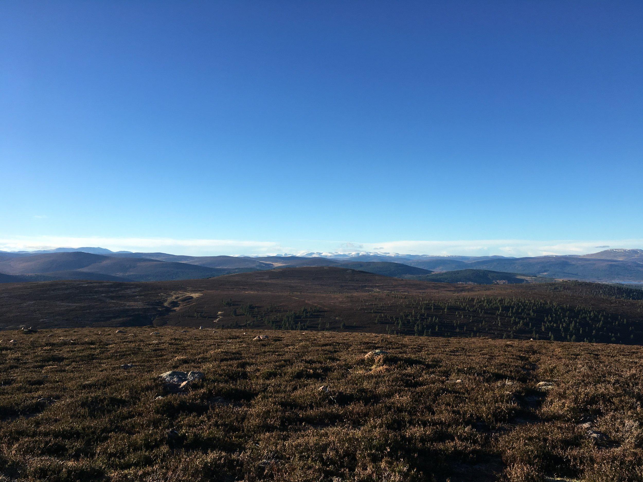 Lochnagar, the Cairngorms and Morven