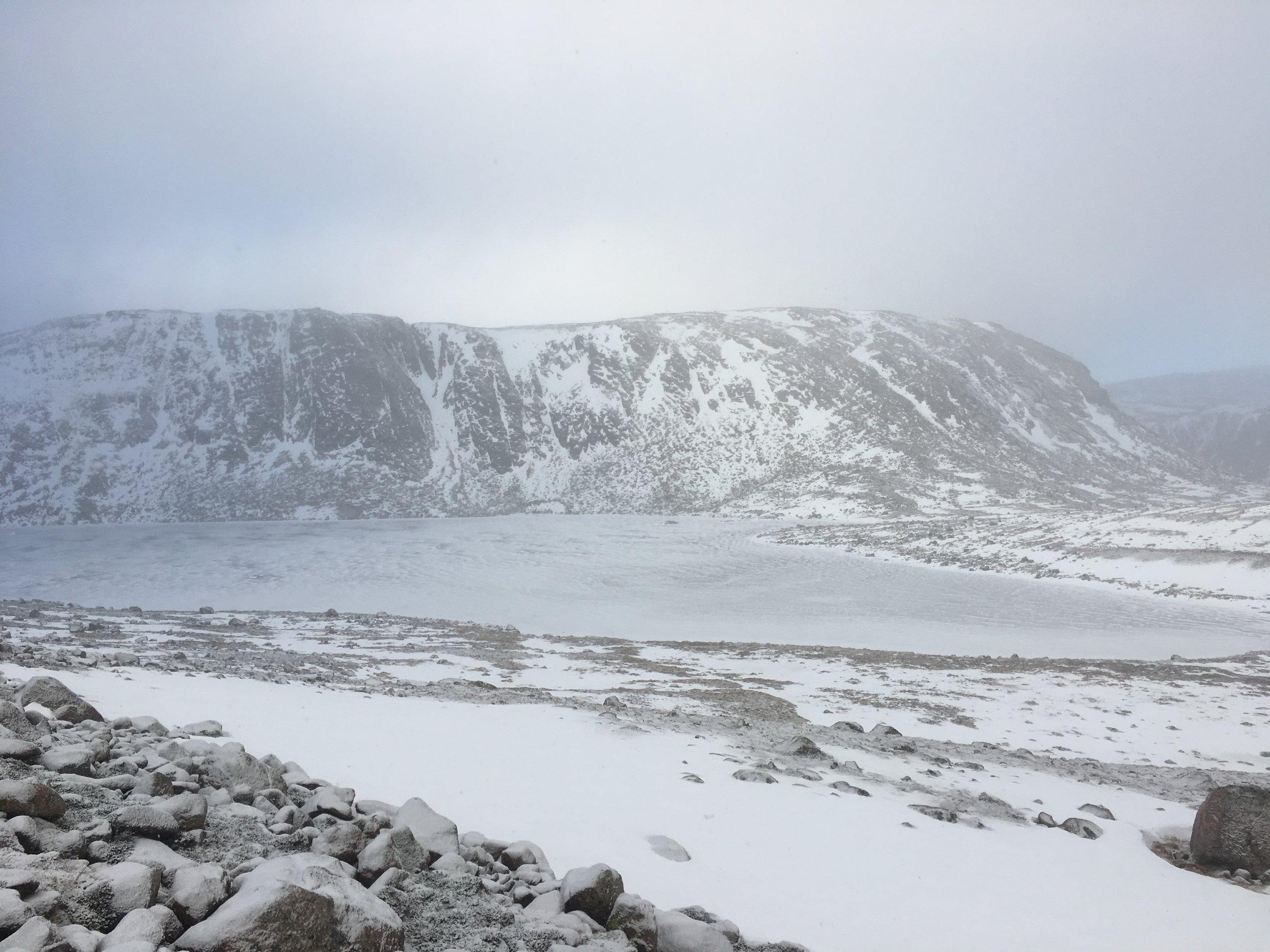 Frozen Loch Etchachan