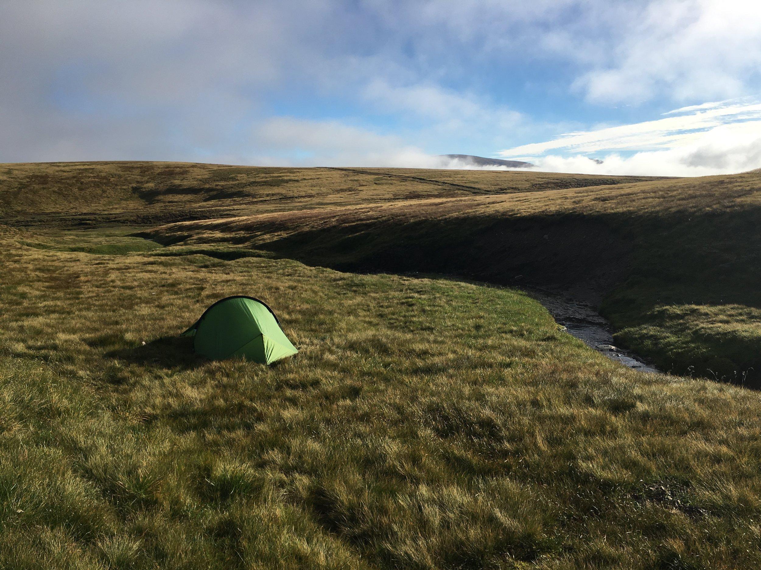 Camp spot above Glen Feshie, near Monadh Mor